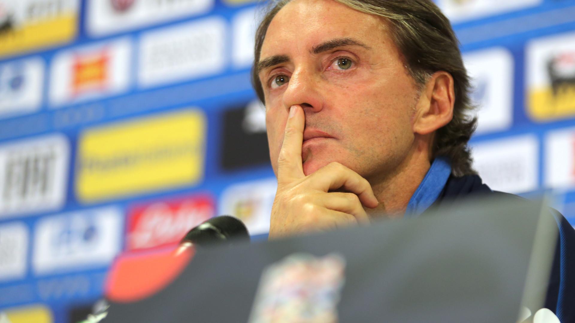 Mancini desvaloriza possível eliminação da Itália na Liga das Nações