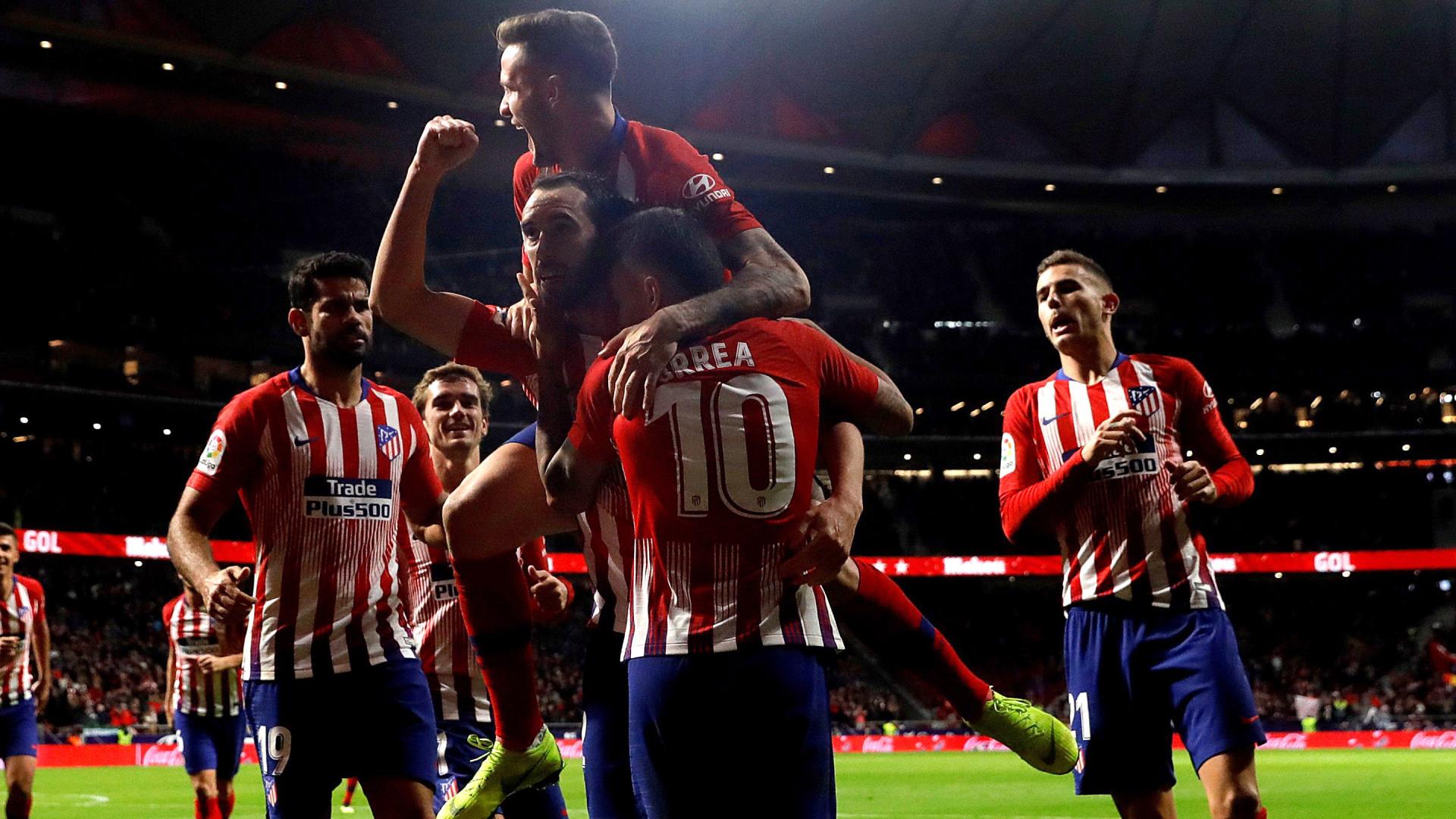 b62b8c5868 Atlético Madrid vence Real Sociedad e lidera à espera do  El Clásico
