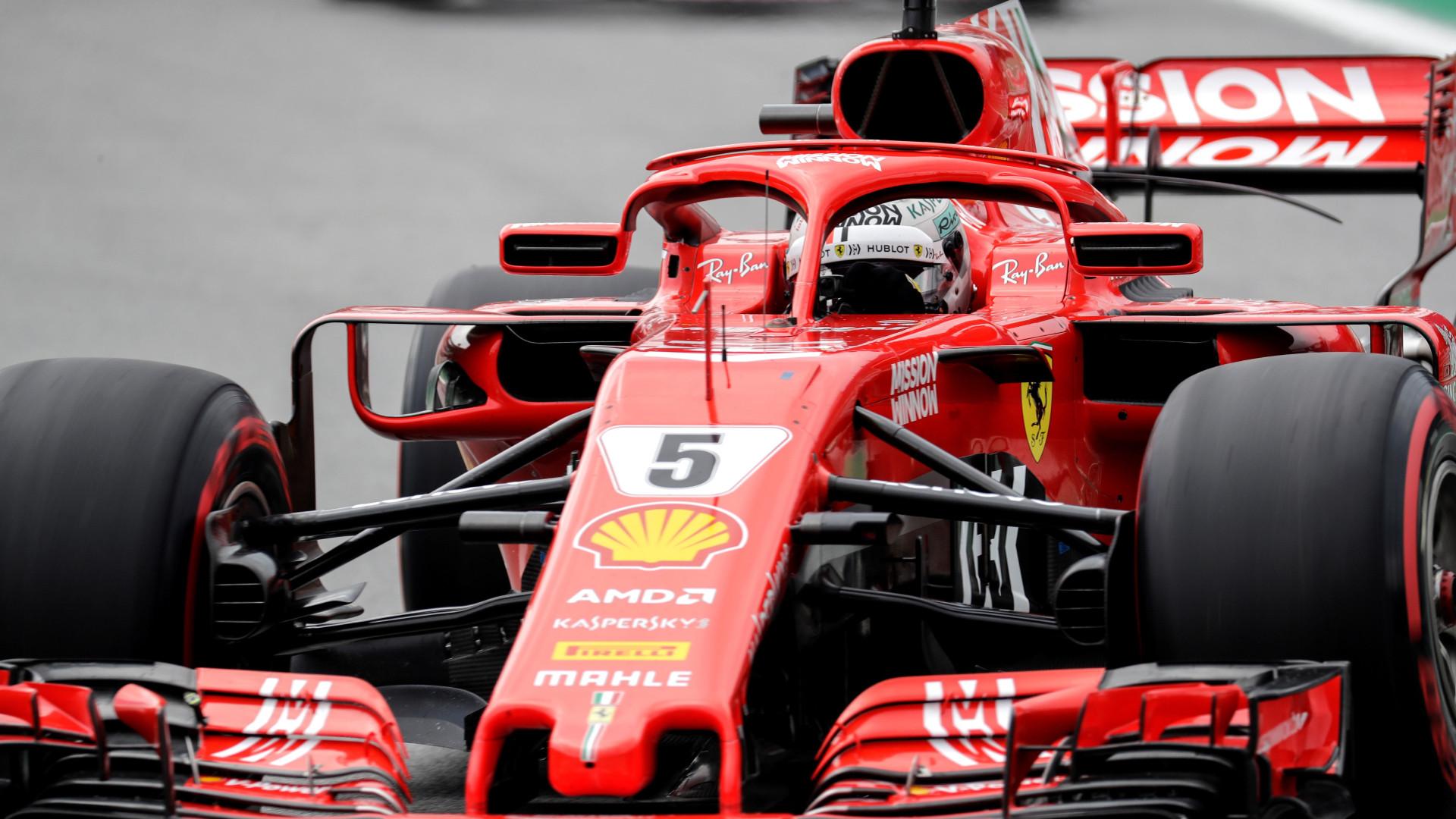Vettel punido com reprimenda e multa mantém segundo lugar no GP Brasil
