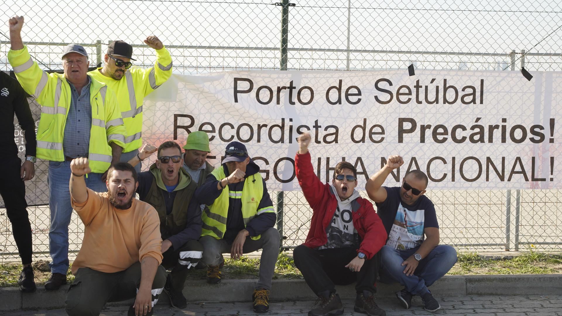 Porto de Setúbal está parado porque 90% dos trabalhadores são precários