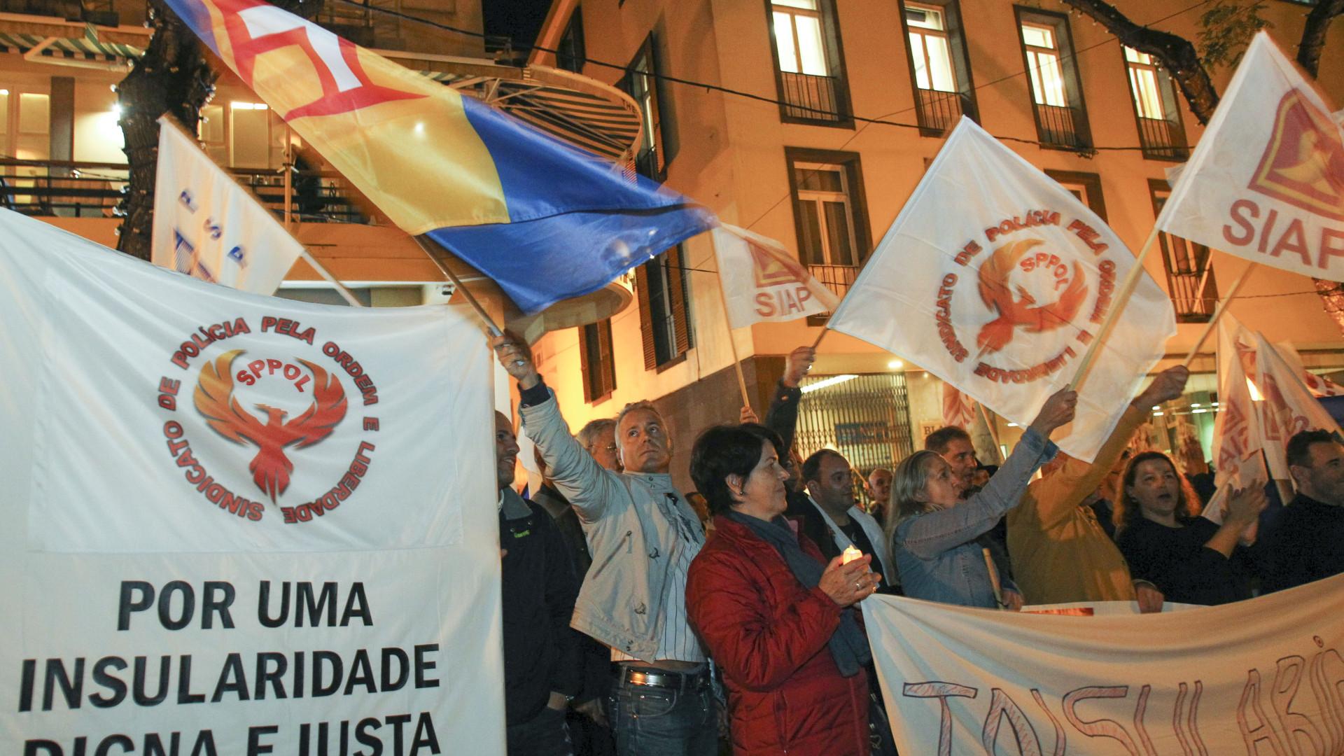 Forças de segurança manifestam-se para exigir subsídio de insularidade