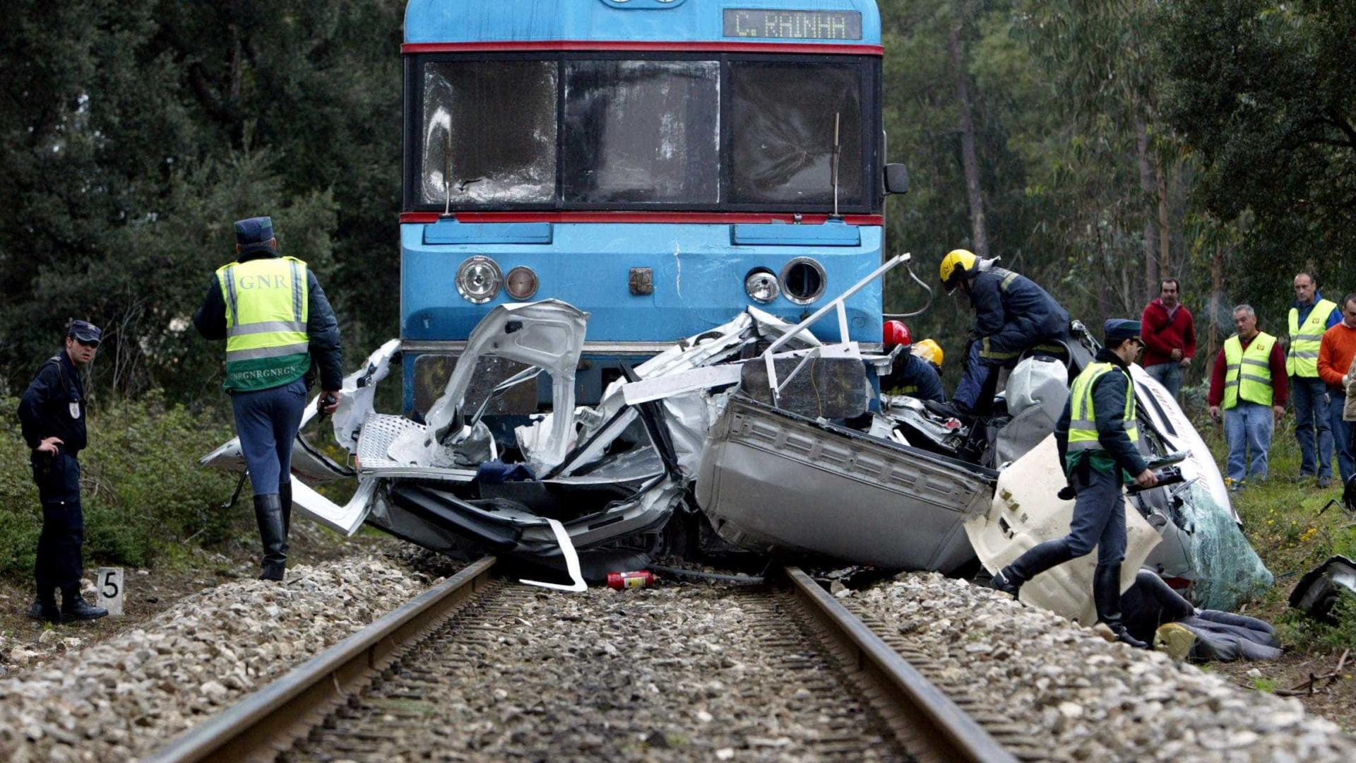 Oito mortos em acidentes em passagens de nível em 2012