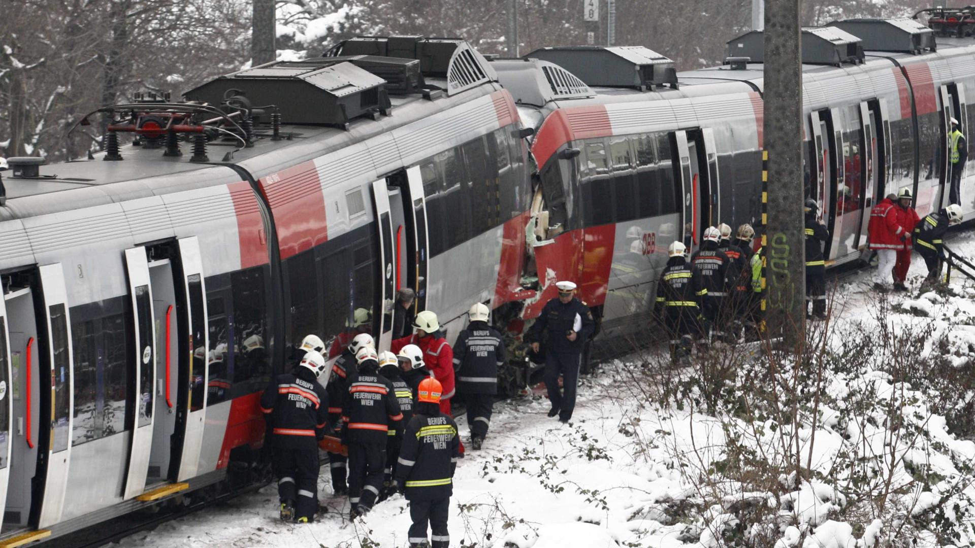 Resultado de imagem para OUTRO ACIDENTE COM COMBOIOS: Agora, em Viena e há passageiros feridos…