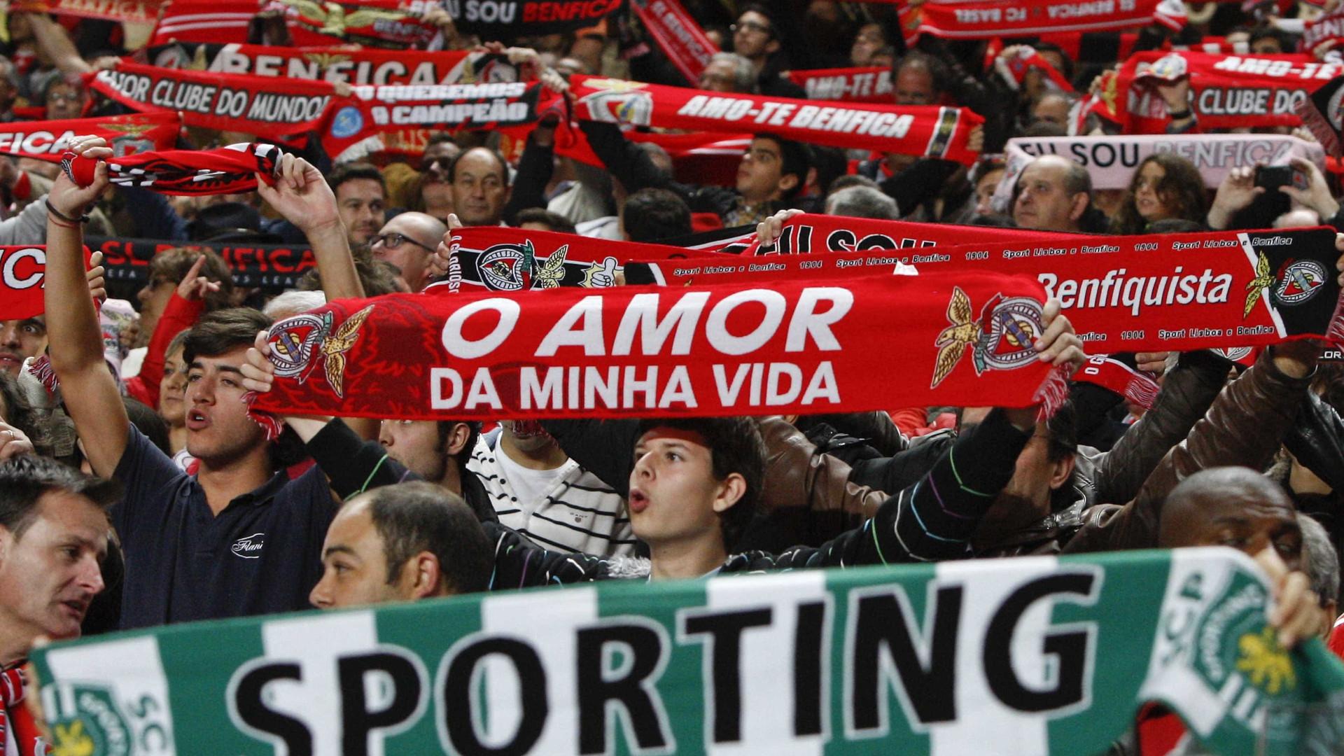 Resultado de imagem para Dois detidos antes do dérbi entre Benfica e Sporting