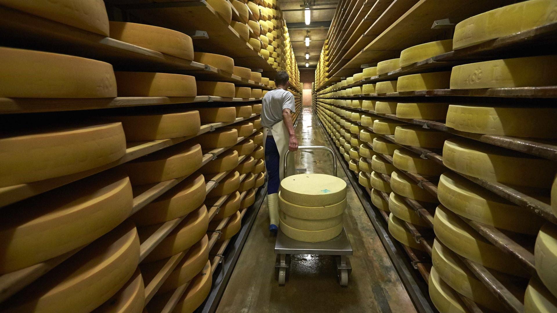 Apreendidas seis toneladas de queijo que continha água oxigenada