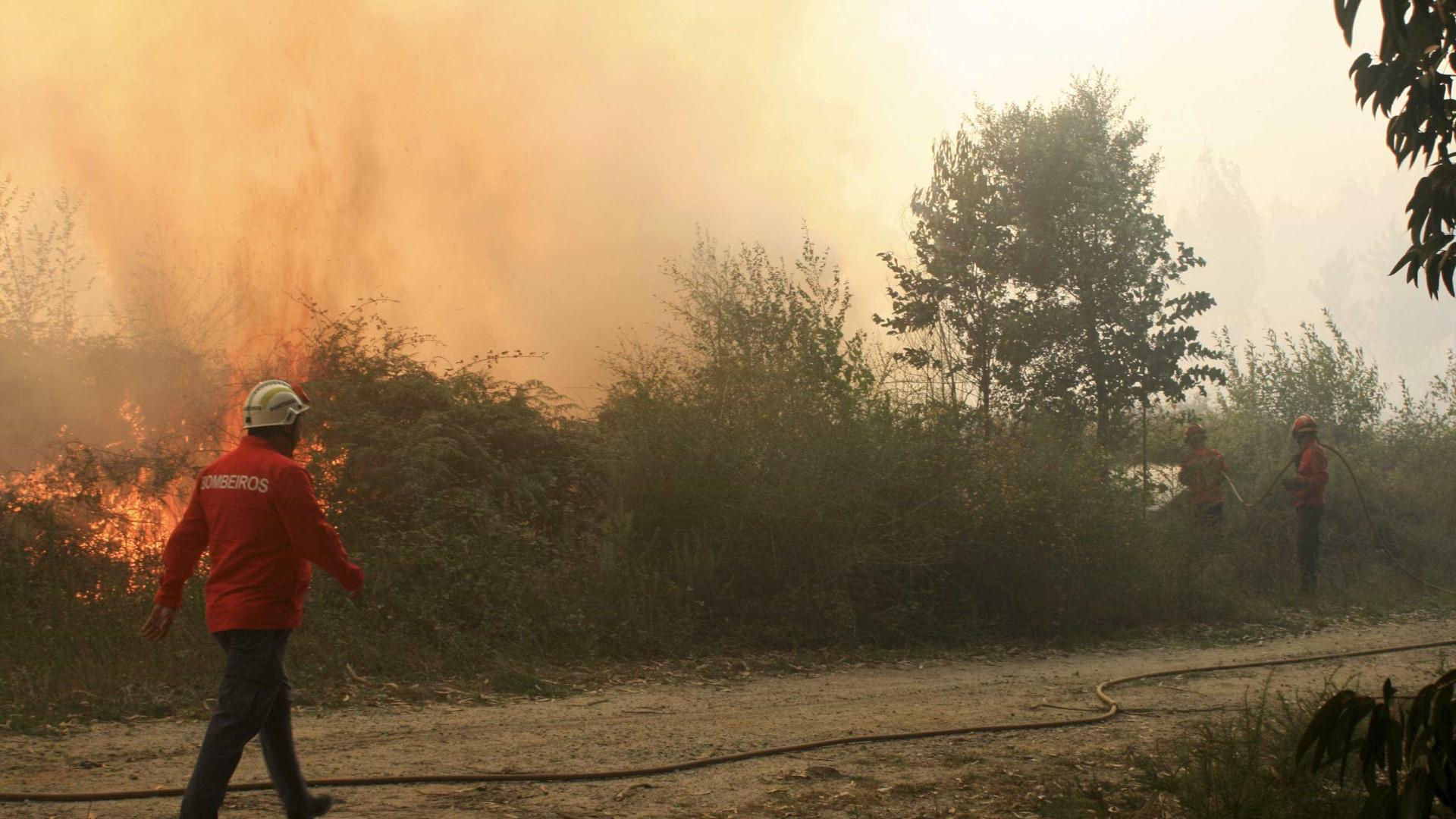 Vento forte dificulta trabalho dos bombeiros no parque Peneda Gerês
