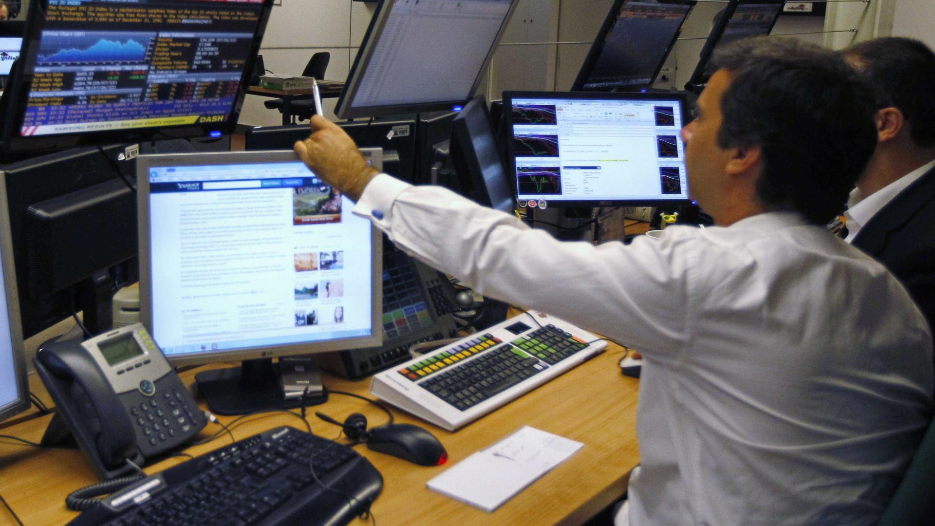 Bolsas europeias em baixa atentas ao mercado da dívida