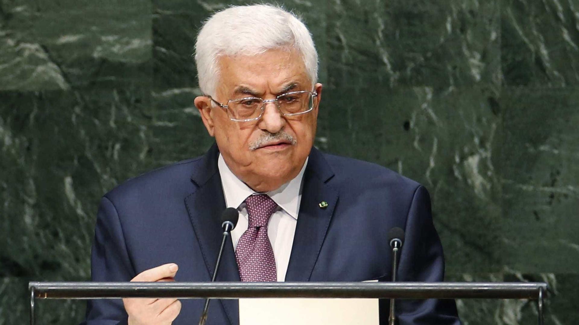 """Mahmud Abbas pede à UE para reconhecer """"rapidamente"""" Estado da Palestina"""