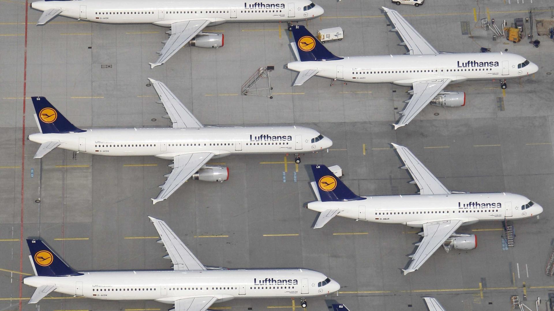 Lufthansa cancela 800 voos na terça-feira devido a greve em aeroportos