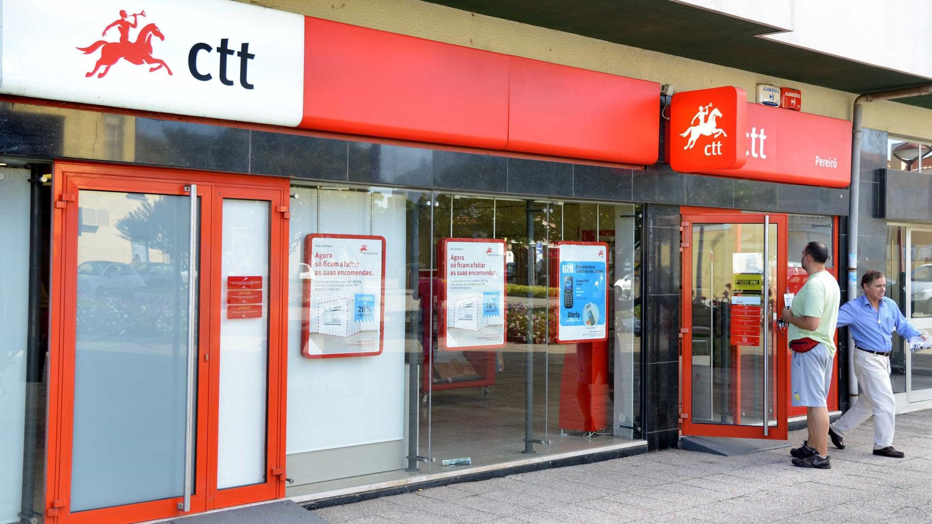 Lucro dos CTT cai 56% para 27,3 milhões de euros em 2017