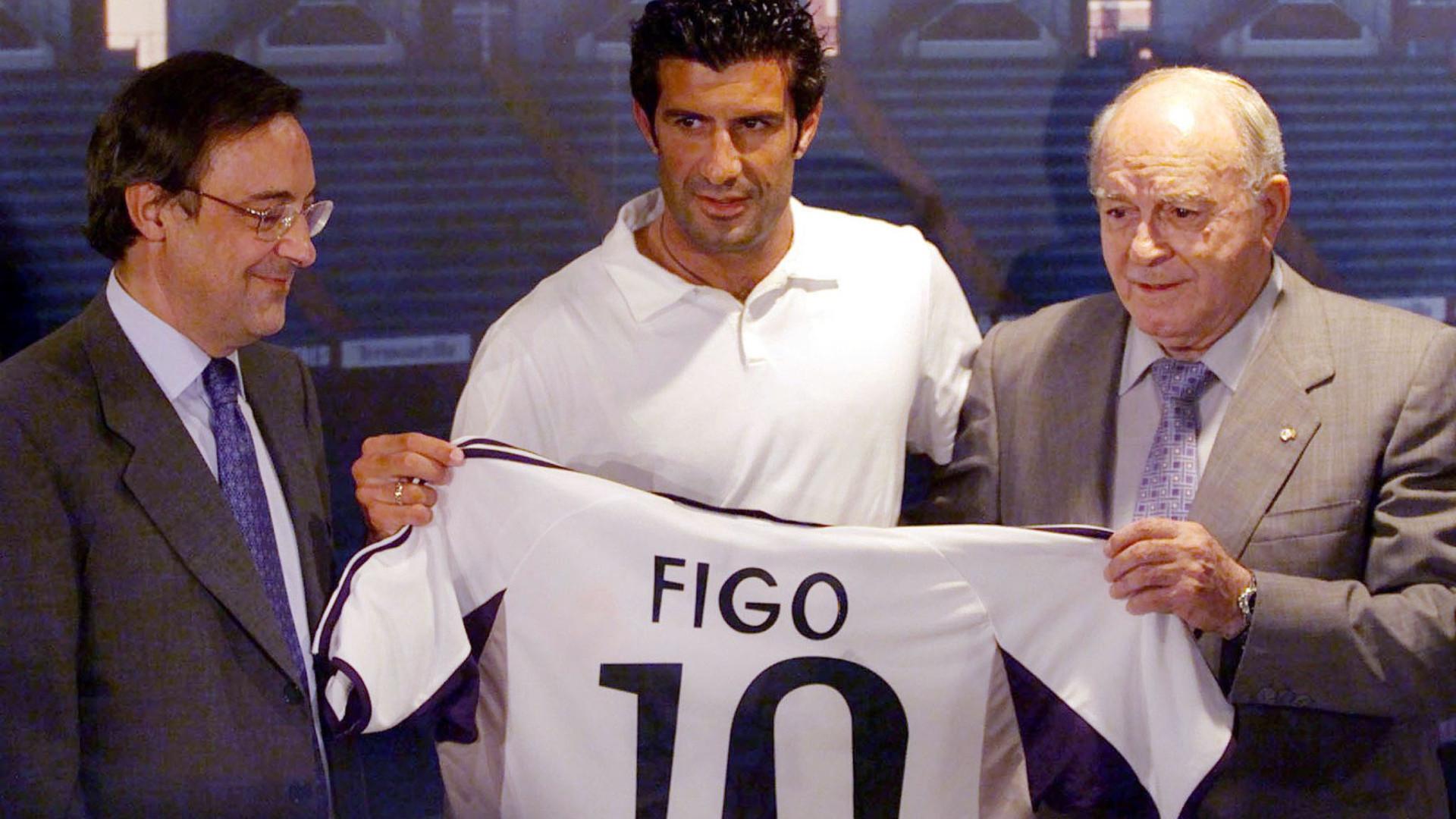 Florentino Pérez recorda Figo: