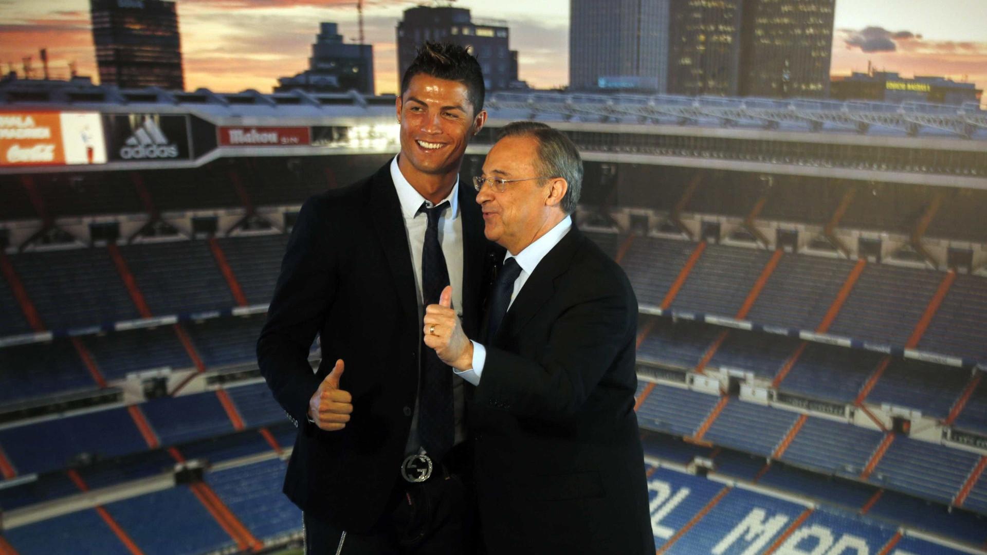 Presidente do Real Madrid diz que Ronaldo é herdeiro de Di Stefano