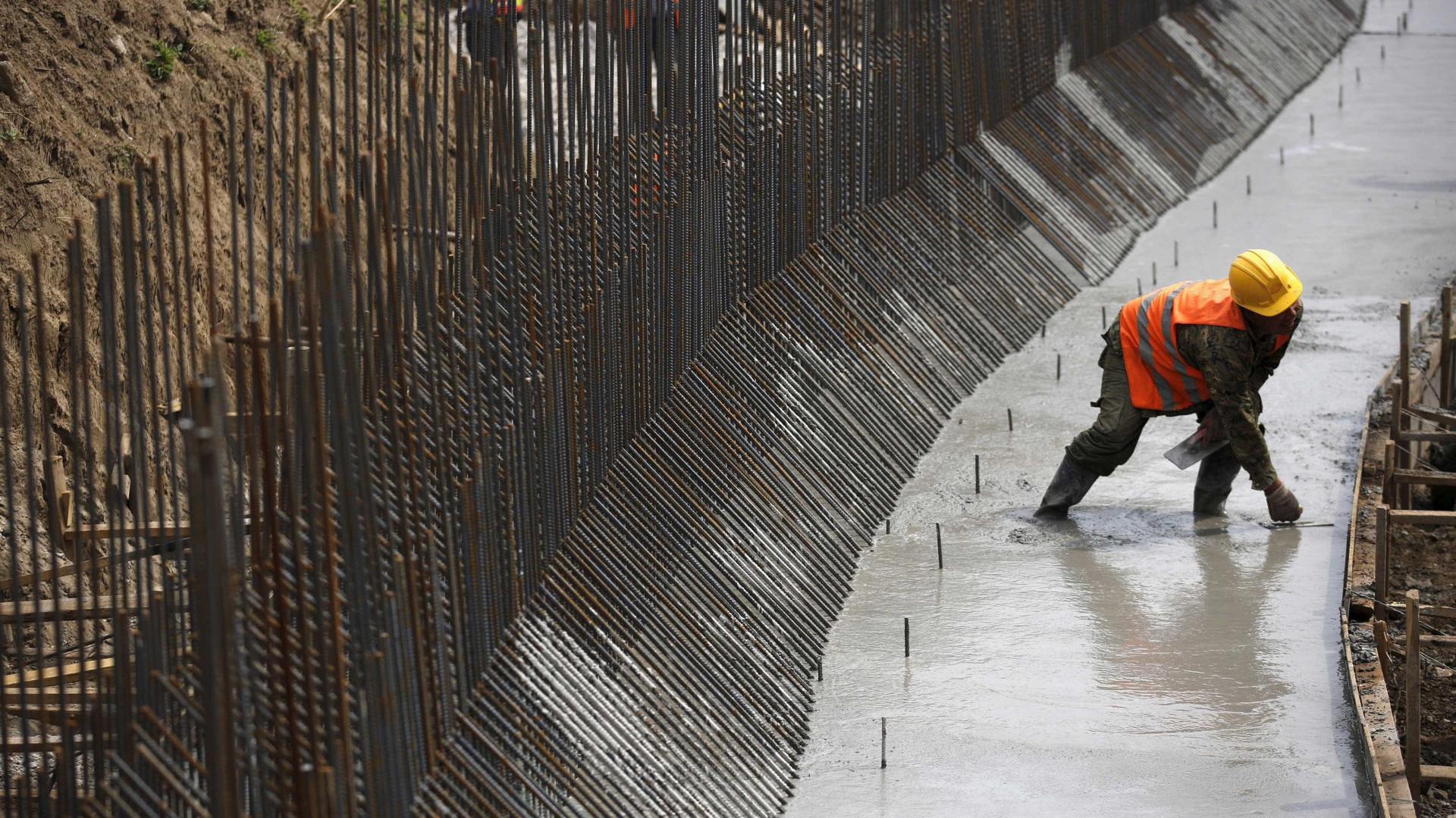 Produção na construção aumentou 4% em agosto