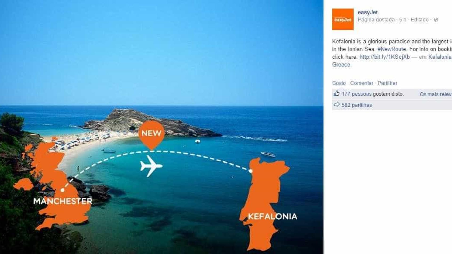 EasyJet confunde ilha grega com Portugal