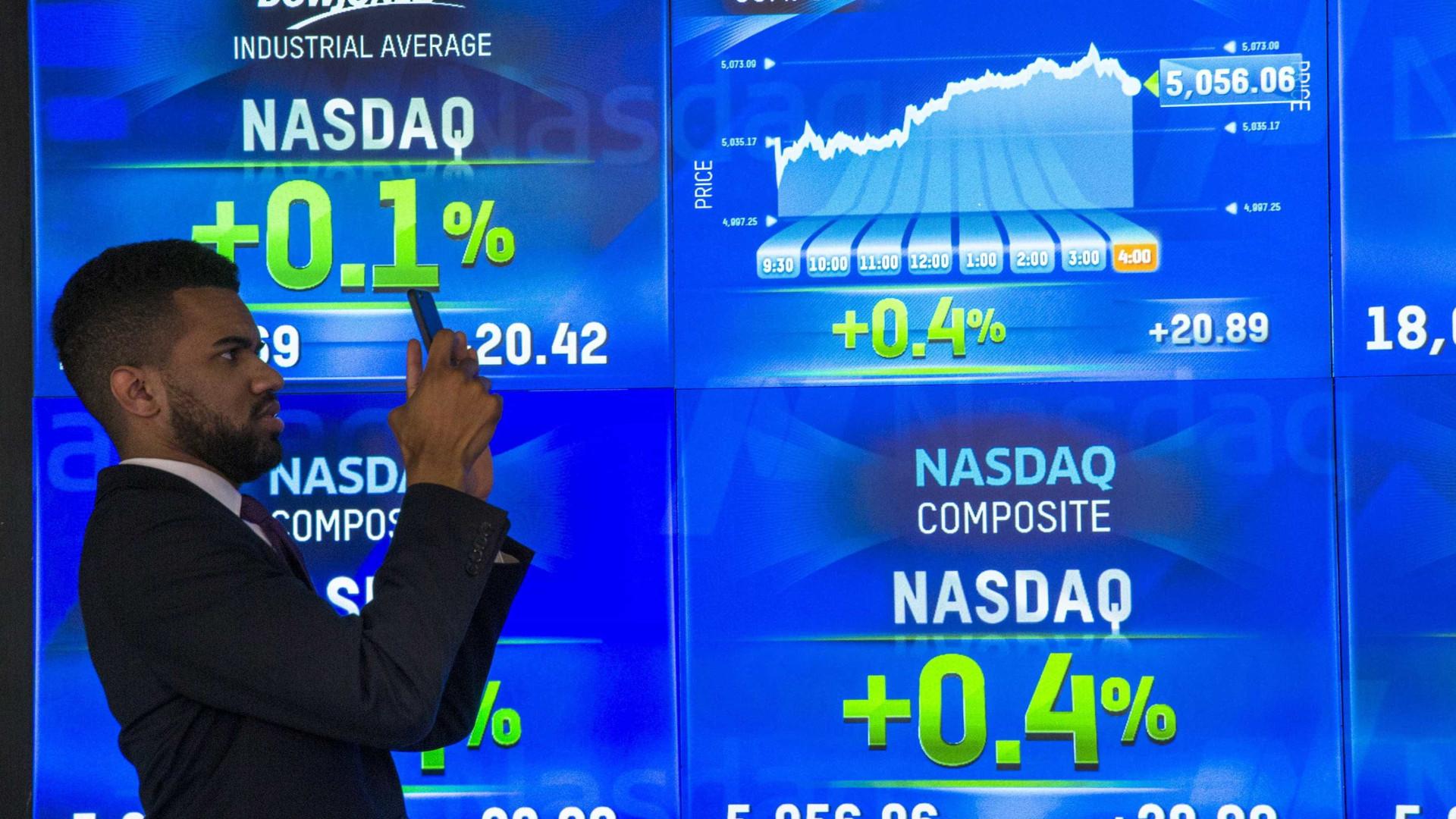 Wall Street encerra misto, com Nasdaq em terreno positivo