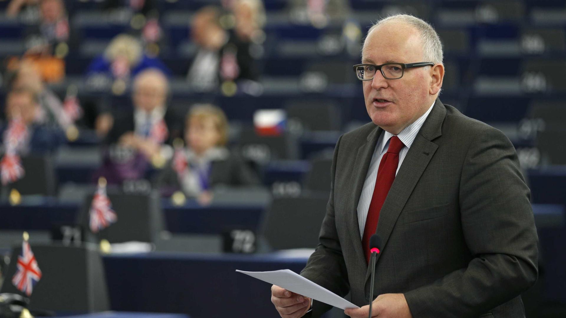 Socialista Frans Timmermans candidato à sucessão de Juncker em Bruxelas