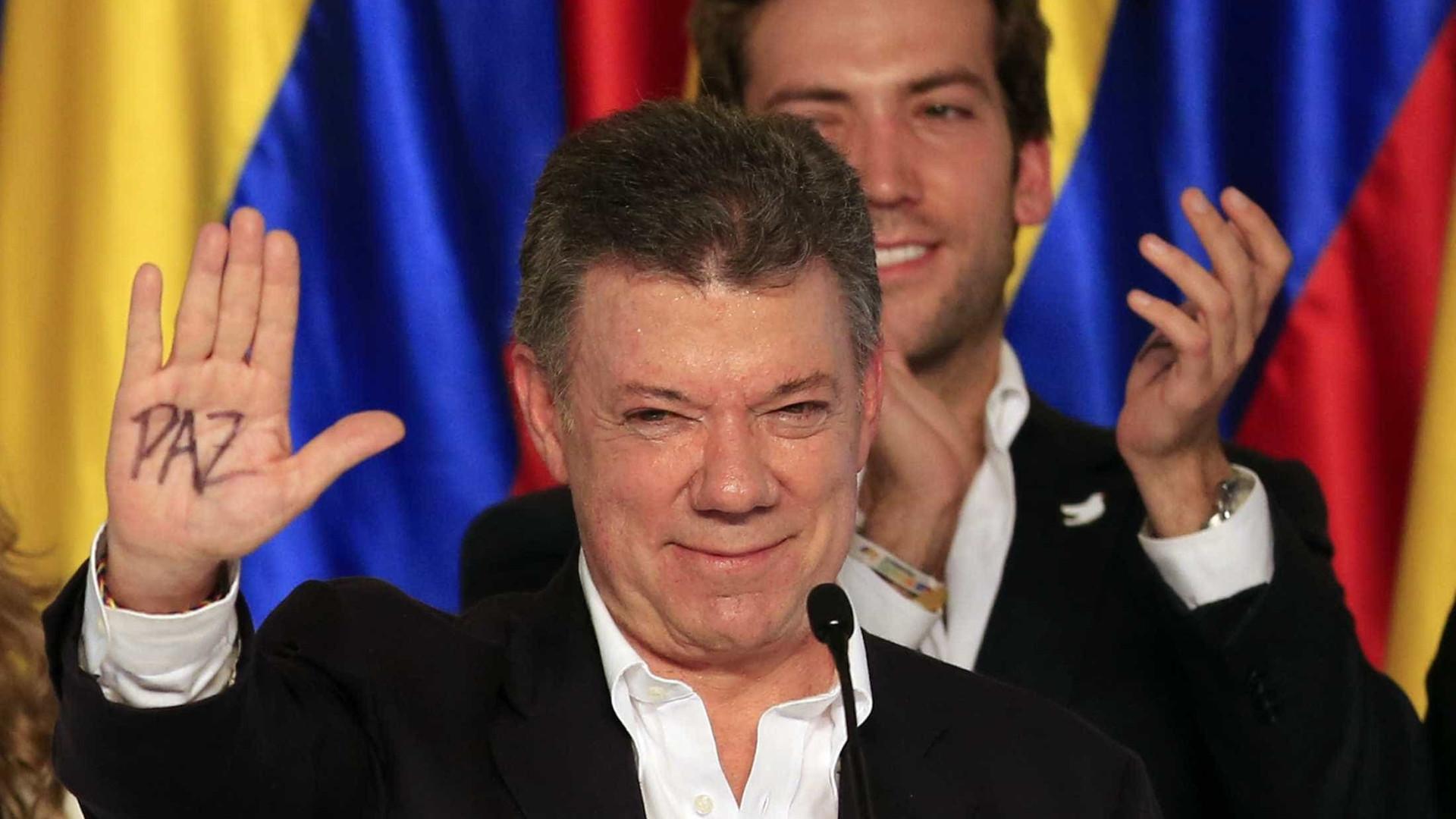 Presidente da Colômbia agradece apoio luso no processo de paz com as FARC