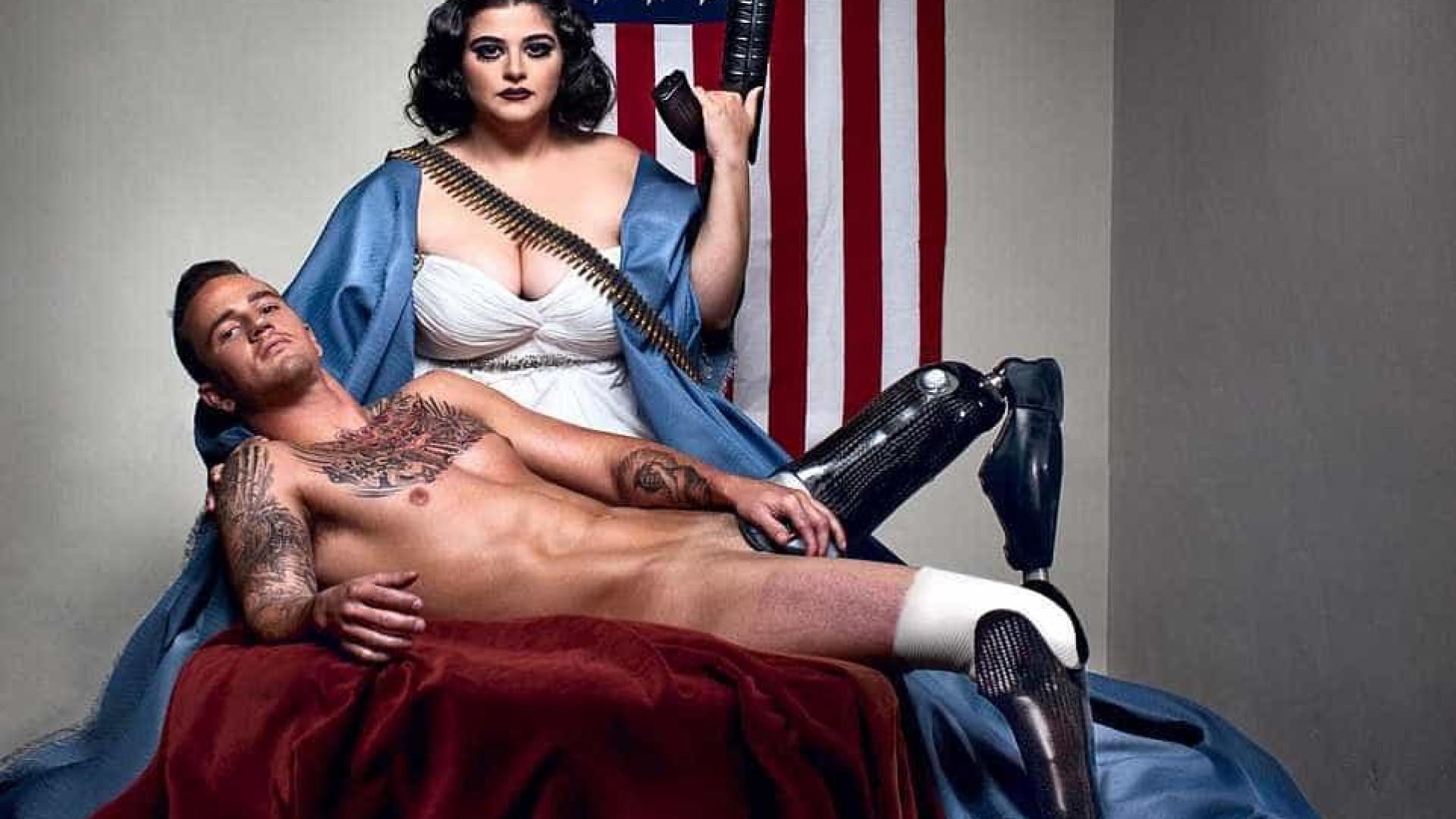 Fotógrafo desafia padrões da beleza ao retratar soldados amputados