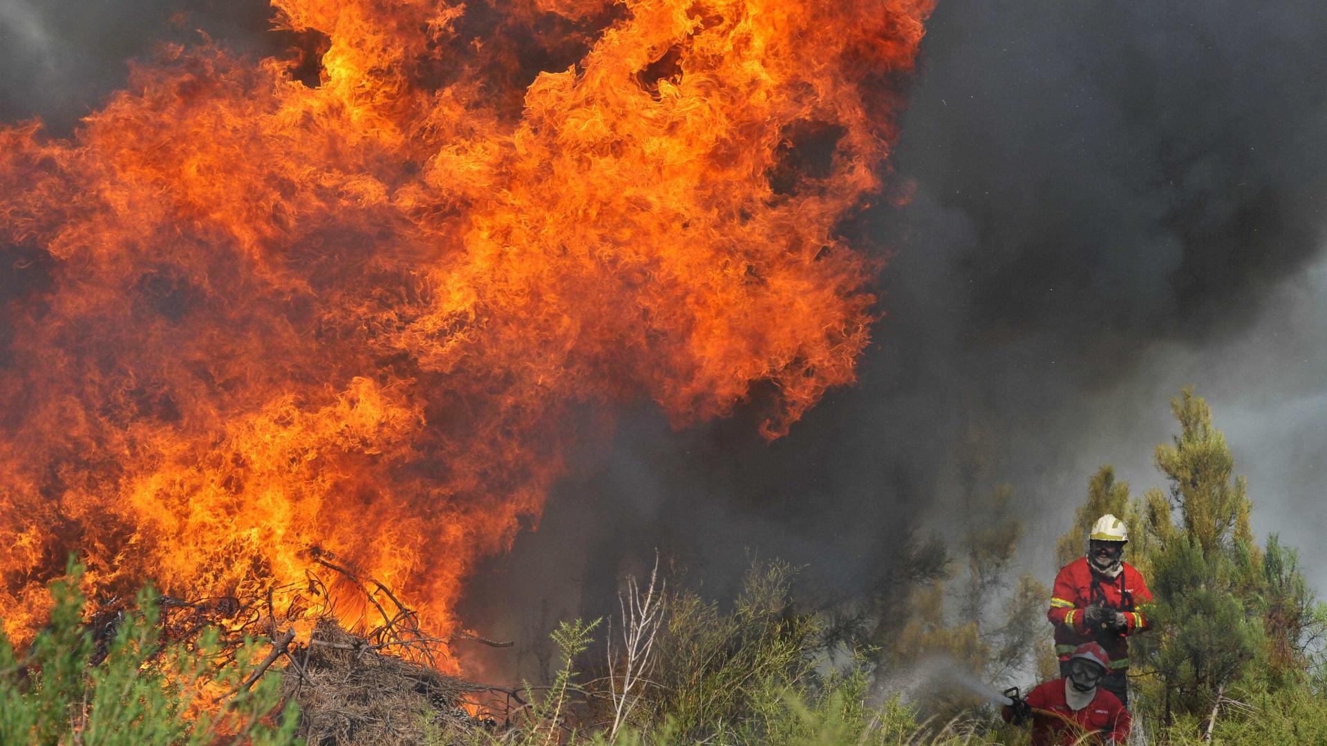 Mais de 140 homens combatem chamas de quatro fogos, o maior em Leiria
