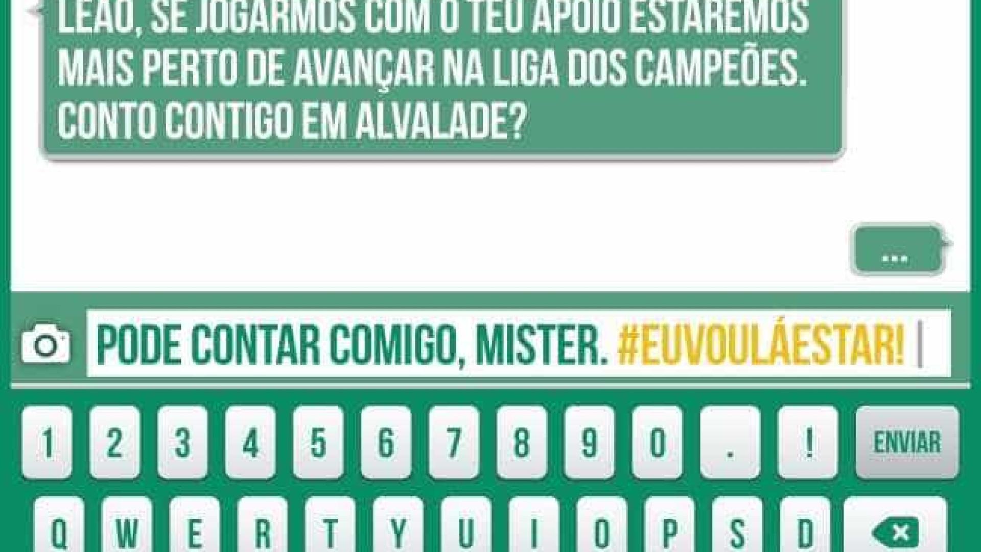 Sporting usa polémica das SMS para lançar campanha publicitária