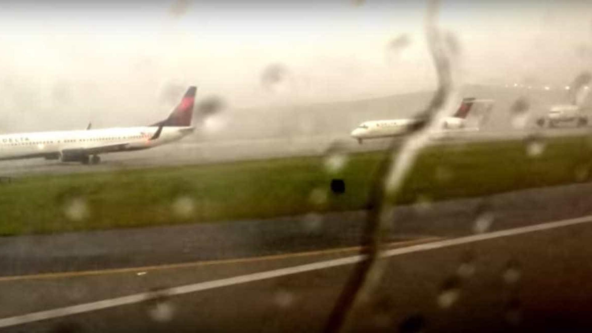 Imagens Raio Aeroporto : Notícias ao minuto raio atinge avião em plena pista de