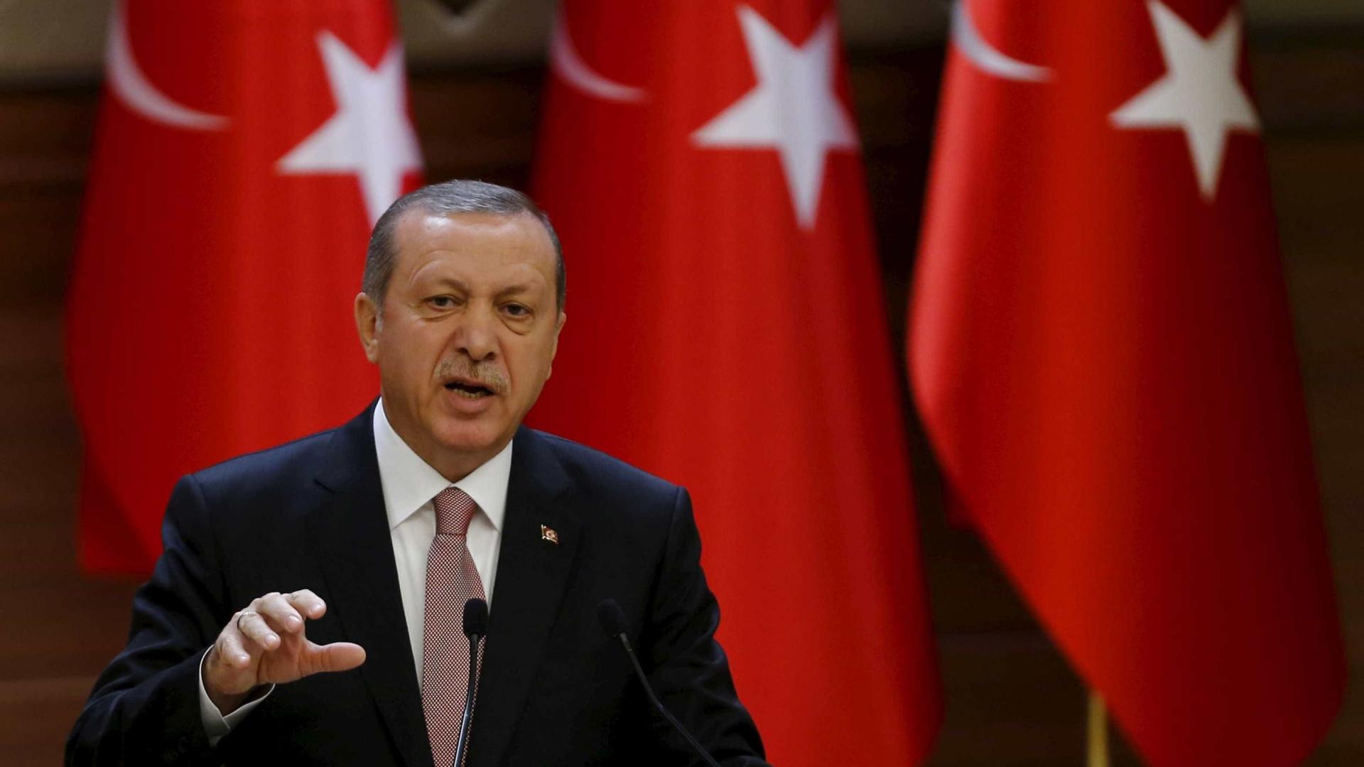 """Espero que Afrine caia esta tarde"", afirmou Erdogan"