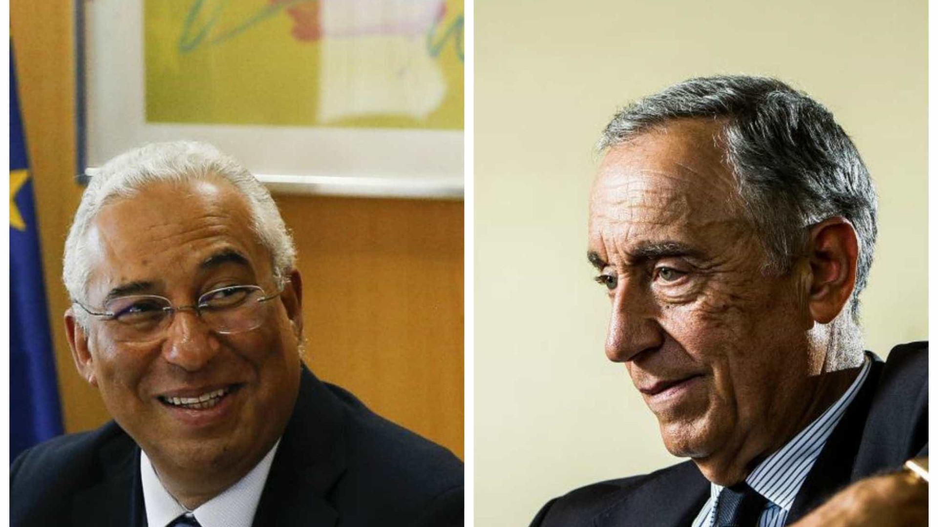 Marcelo e Costa juntos no primeiro Dia da Restauração depois da reposição