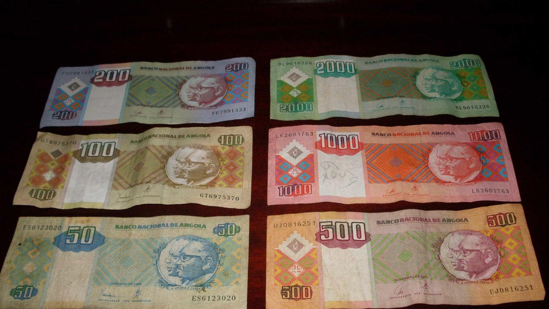 Kwanza angolano sofre nova depreciação e já perdeu 40% para o euro