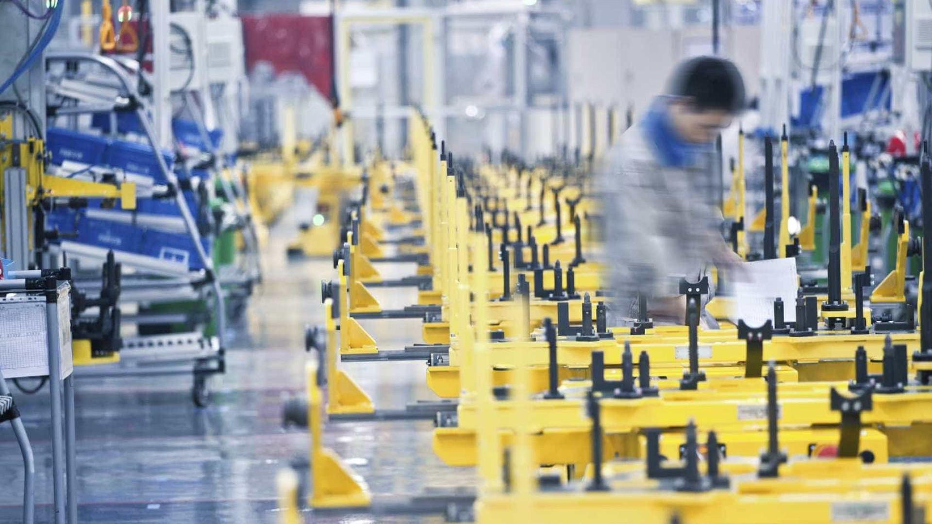 Produção industrial cresceu 3% na zona euro em 2017