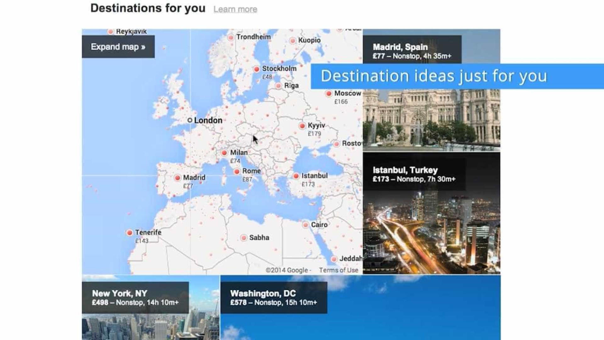 Serviço de voos da Google 'aterra' em Portugal