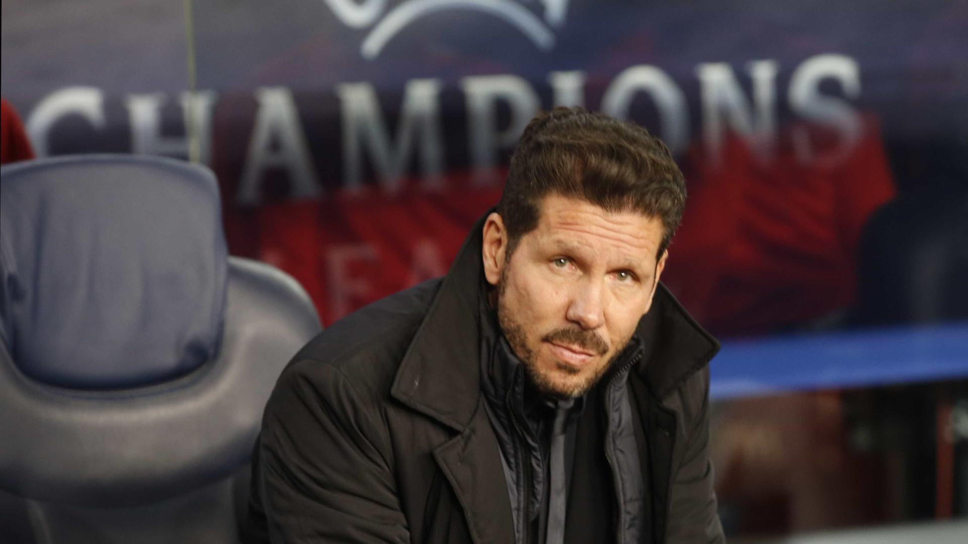 Tensão no balneário do Atlético Madrid devido às... lesões