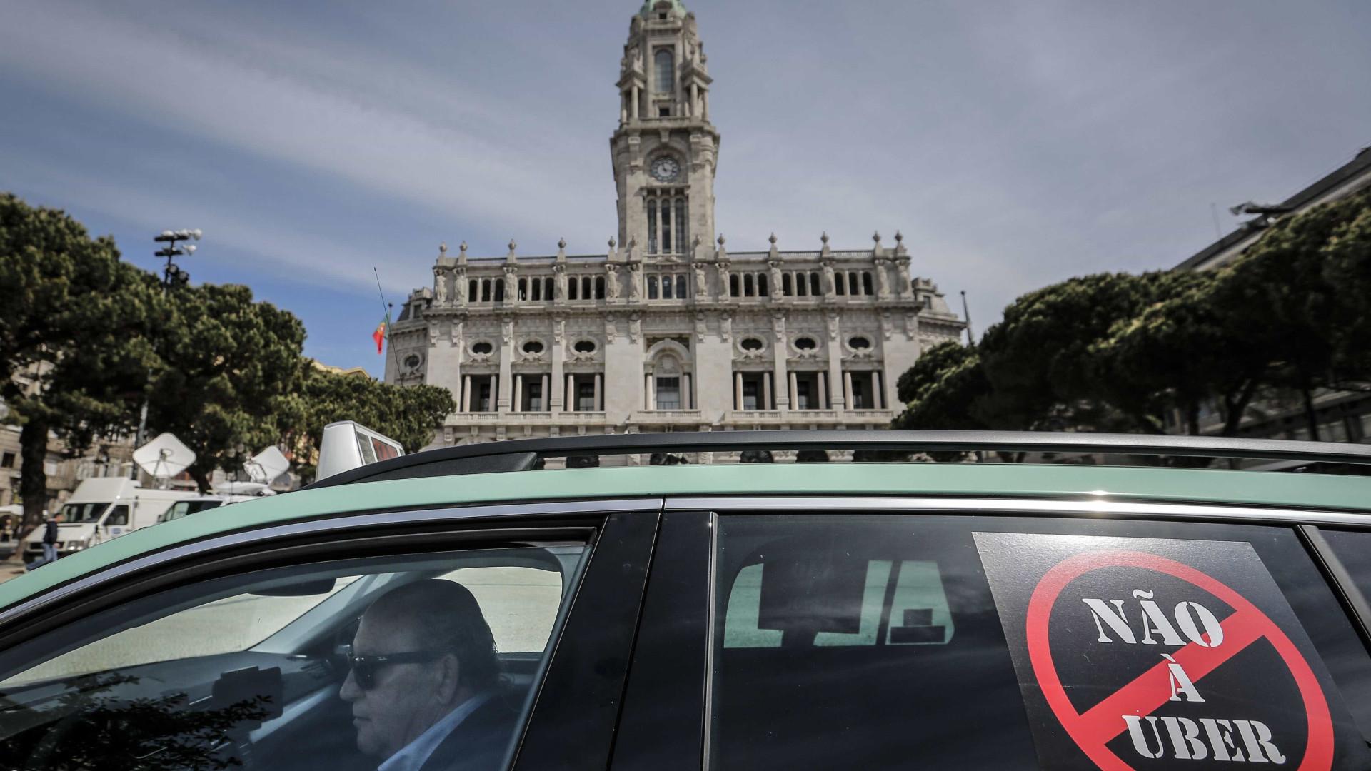 Taxistas do Porto dizem que voltam a passar a noite nos Aliados