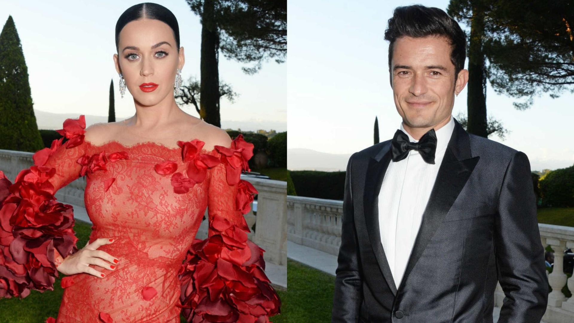 Katy Perry e Orlando Bloom são vistos juntos em show
