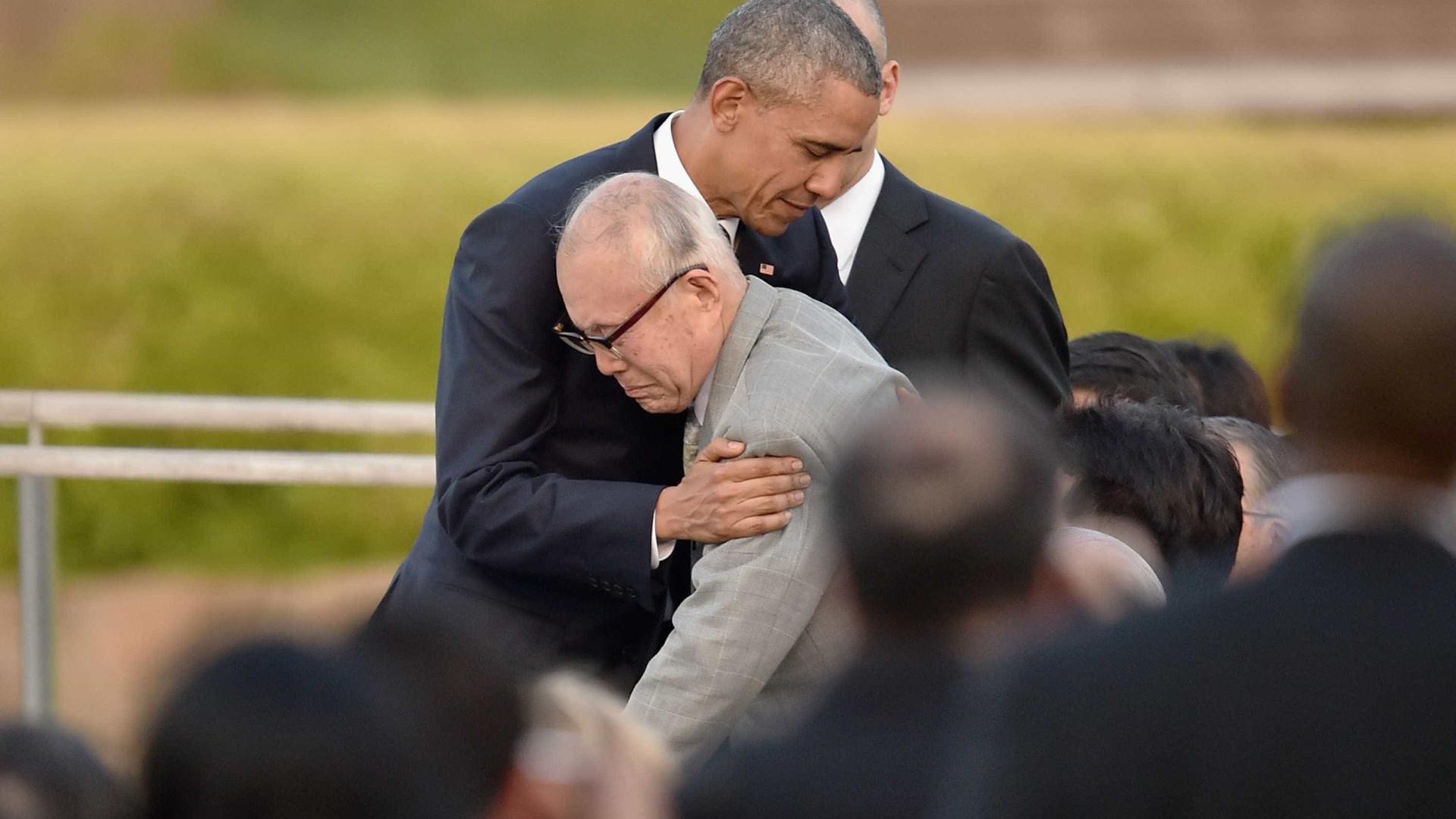 Abraço de Obama a sobrevivente de Horishima torna-se epítome da visita