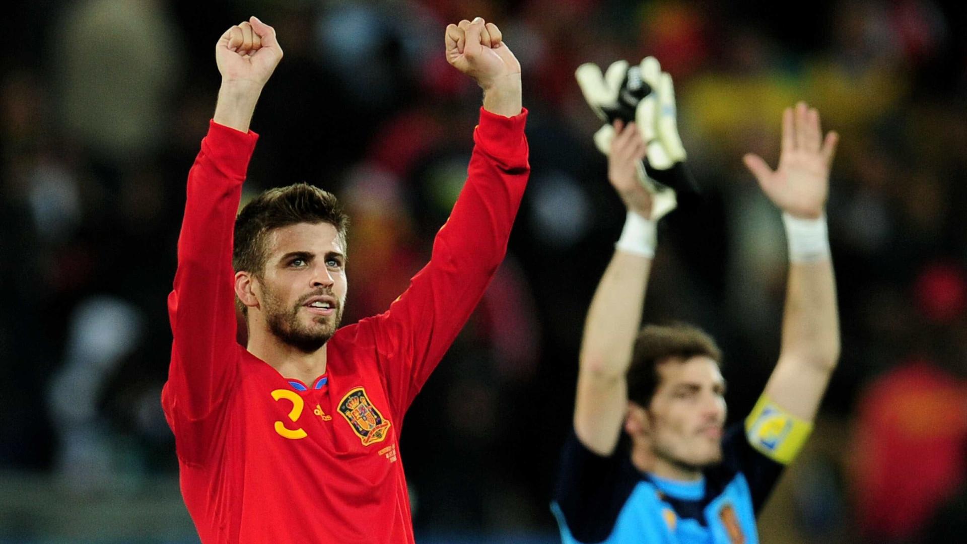 """Piqué volta a meter-se com Casillas: """"Um alívio não te ver a cara"""""""
