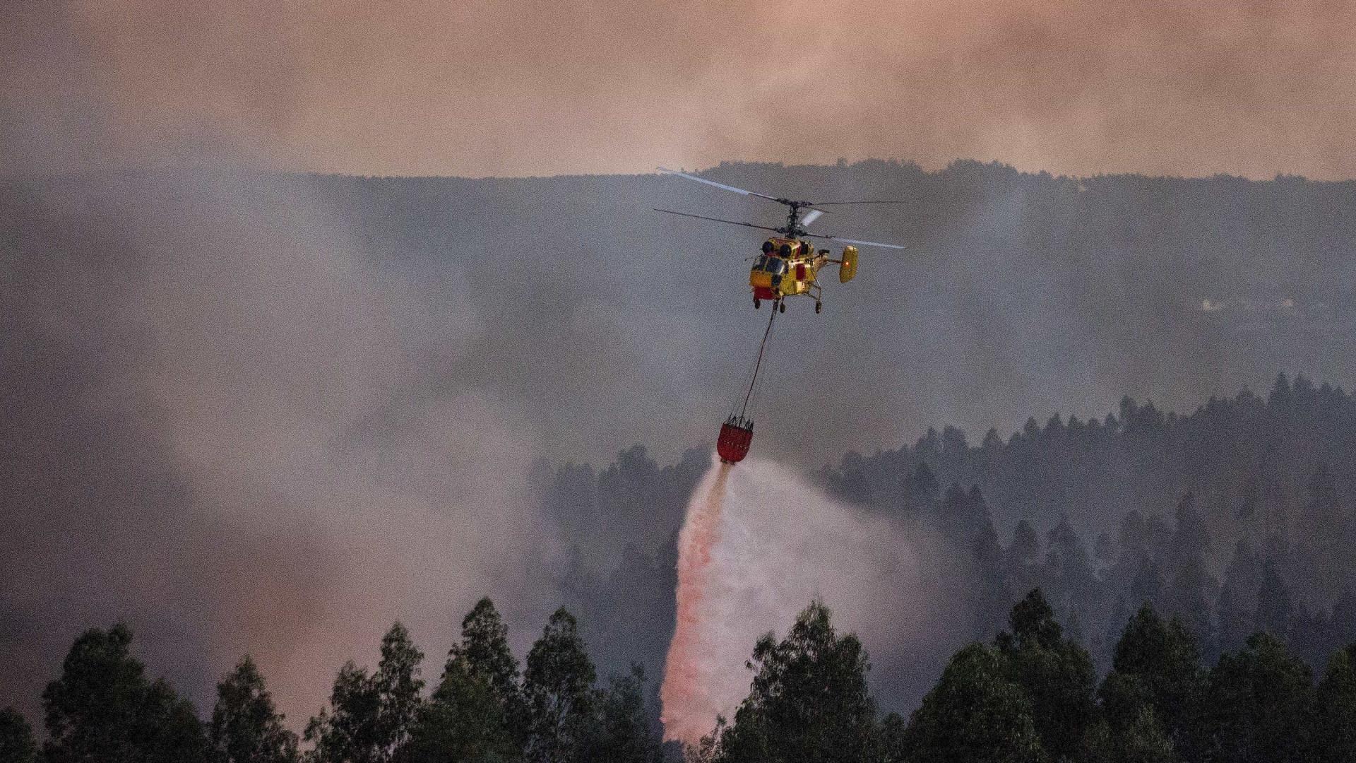 Acionado meio aéreo para combate a fogo no parque Peneda Gerês