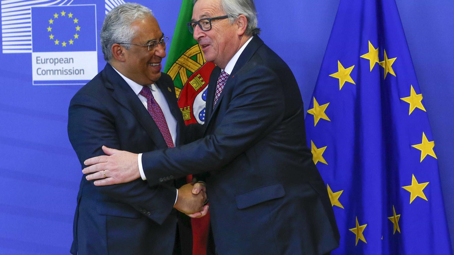 """Juncker com elogios a Portugal. """"Quem teria acreditado há uns anos?"""""""