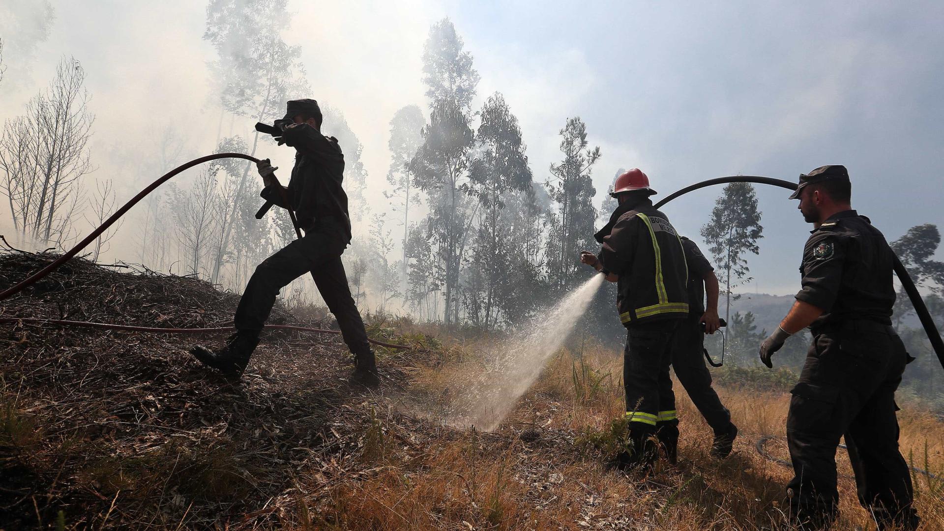 Há seis concelhos em risco máximo de incêndio. Temperatura máxima sobe