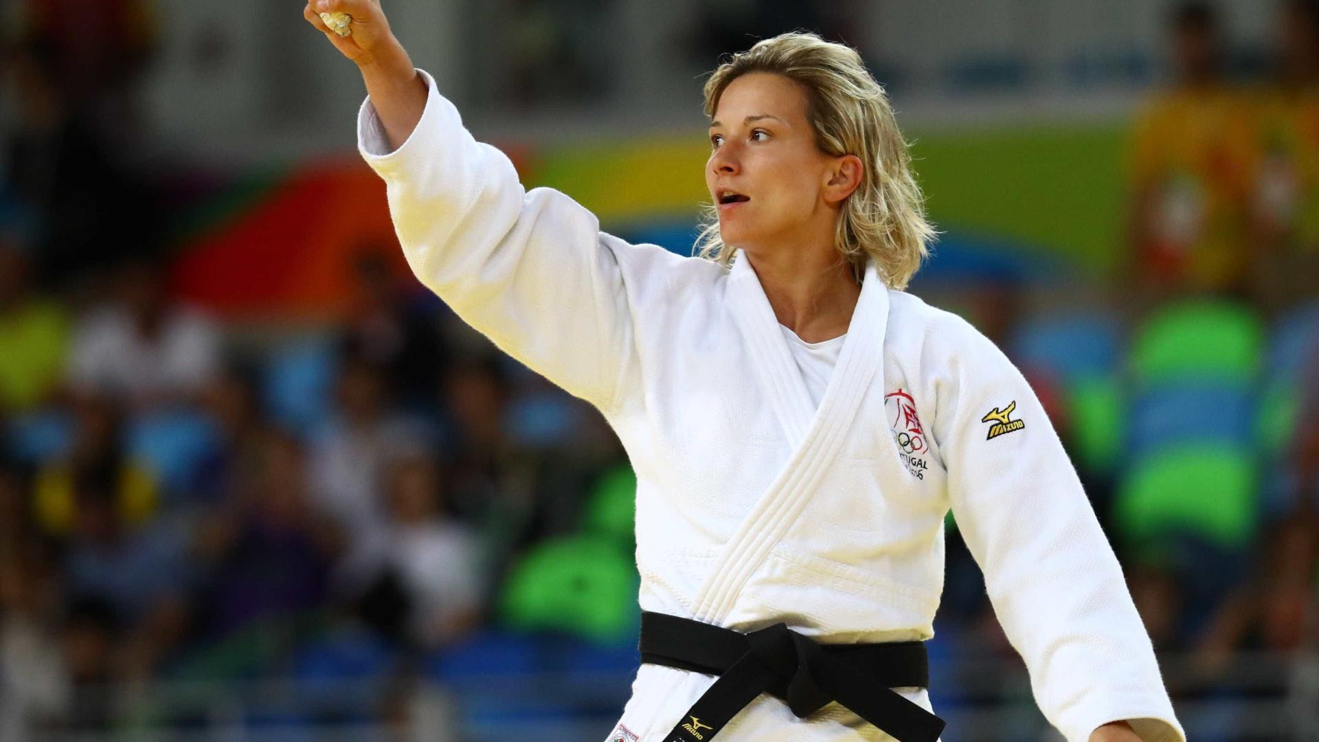 Telma Monteiro nos quartos de final dos Mundiais de Judo