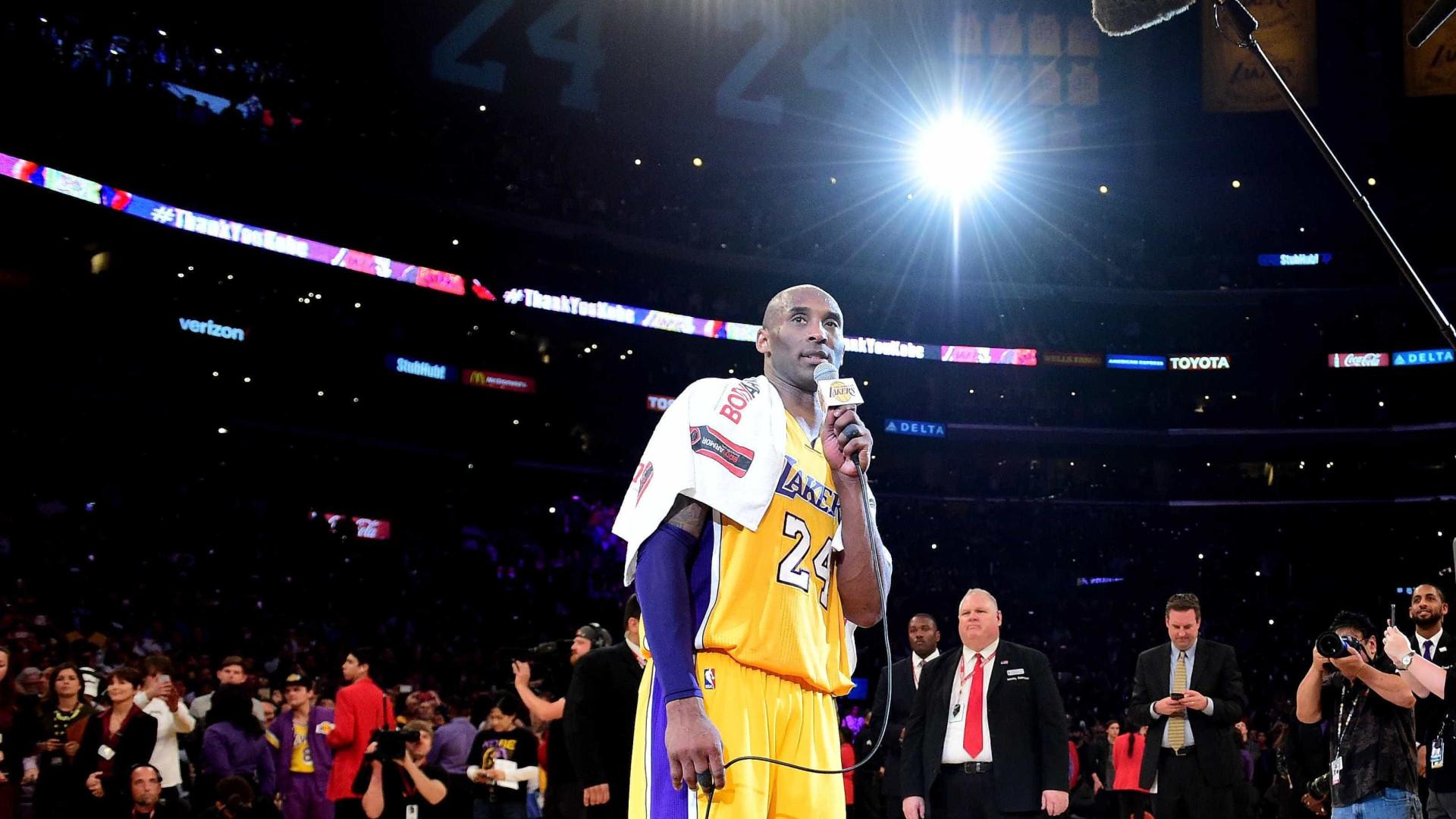 Kobe Bryant, de cinco vezes campeão da NBA a nomeado para Óscar