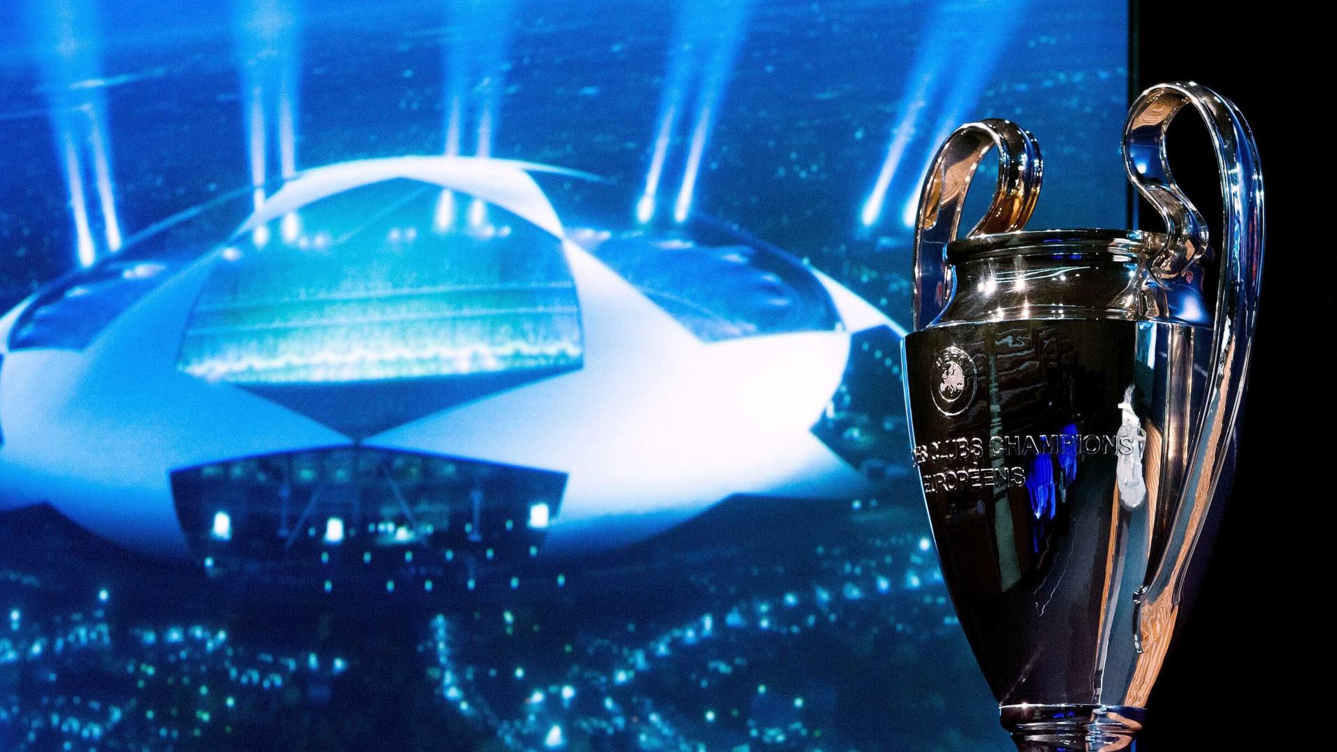 O quadro dos embates do playoff da Liga dos Campeões