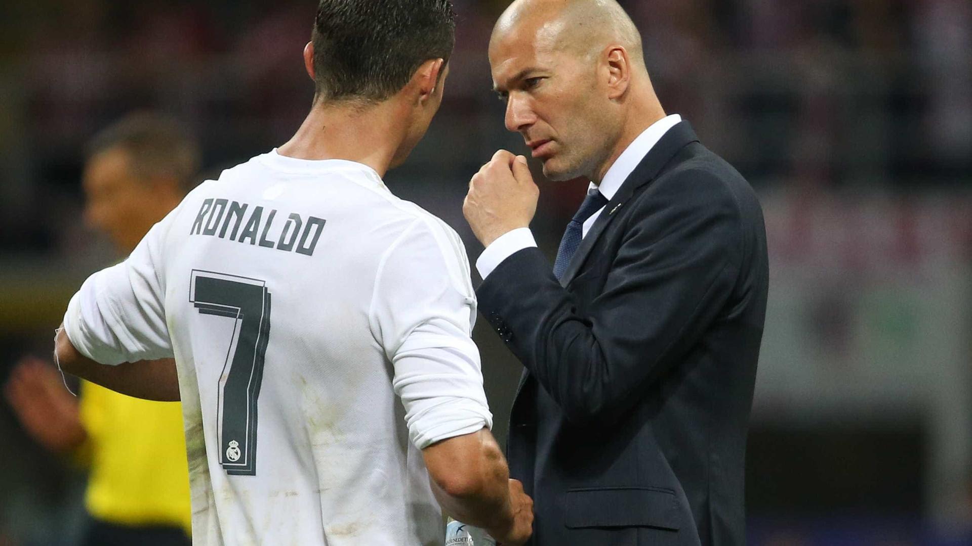Ronaldo não marcou e Zidane saiu em sua defesa