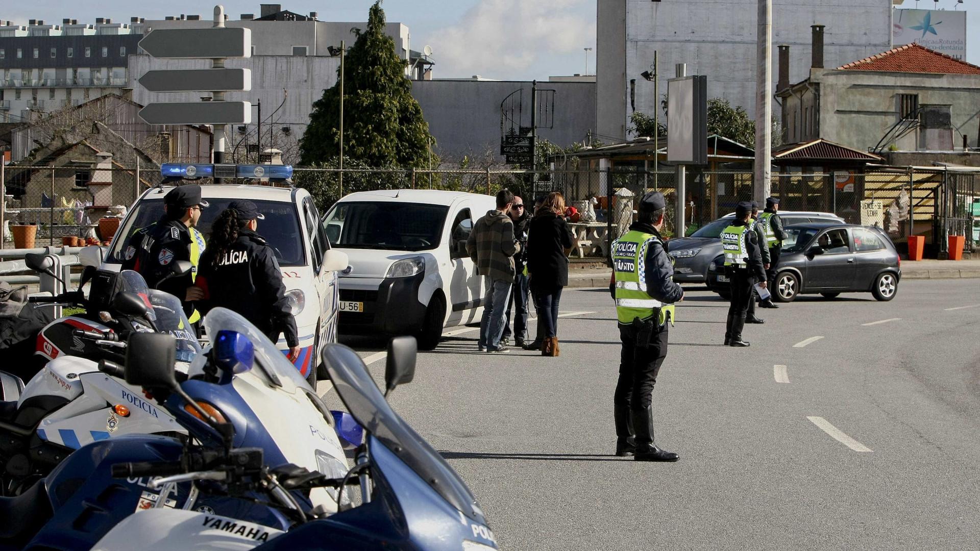 Porto: PSP deteve 15 pessoas, a maioria por condução sob efeito de álcool
