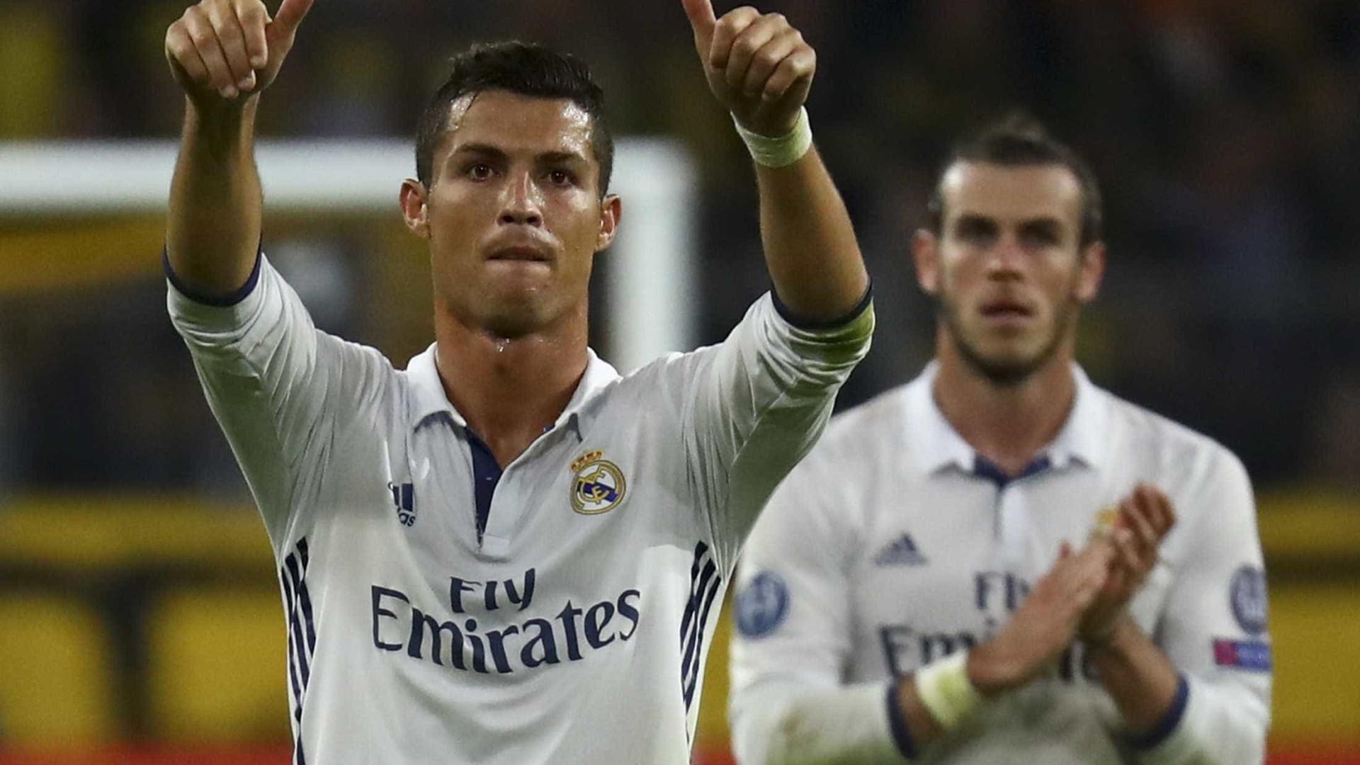 Atlético festejou 100.º golo na Champions no mesmo dia de... CR7