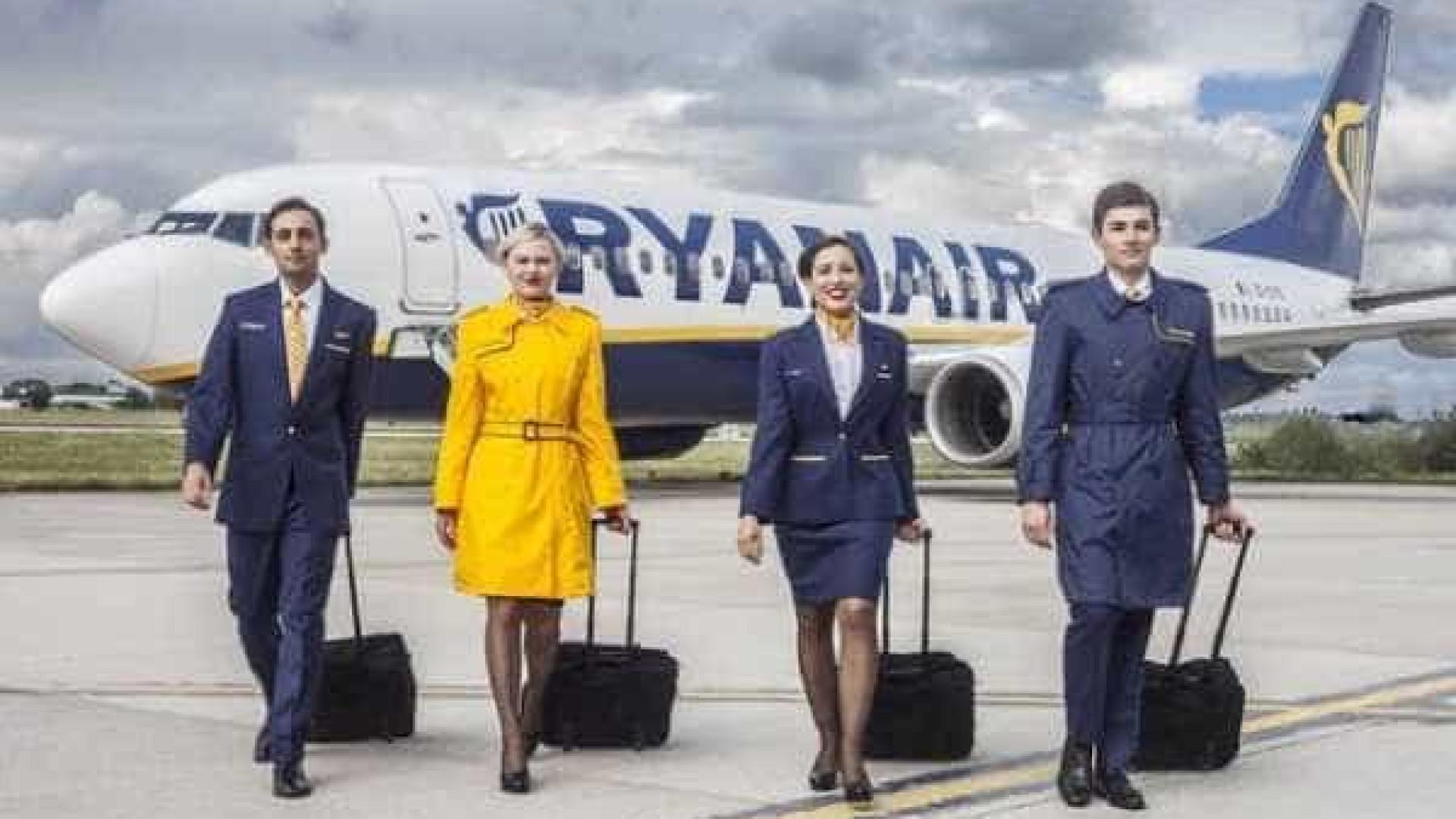 Tripulantes da Ryanair marcam greve de três dias no período da Páscoa