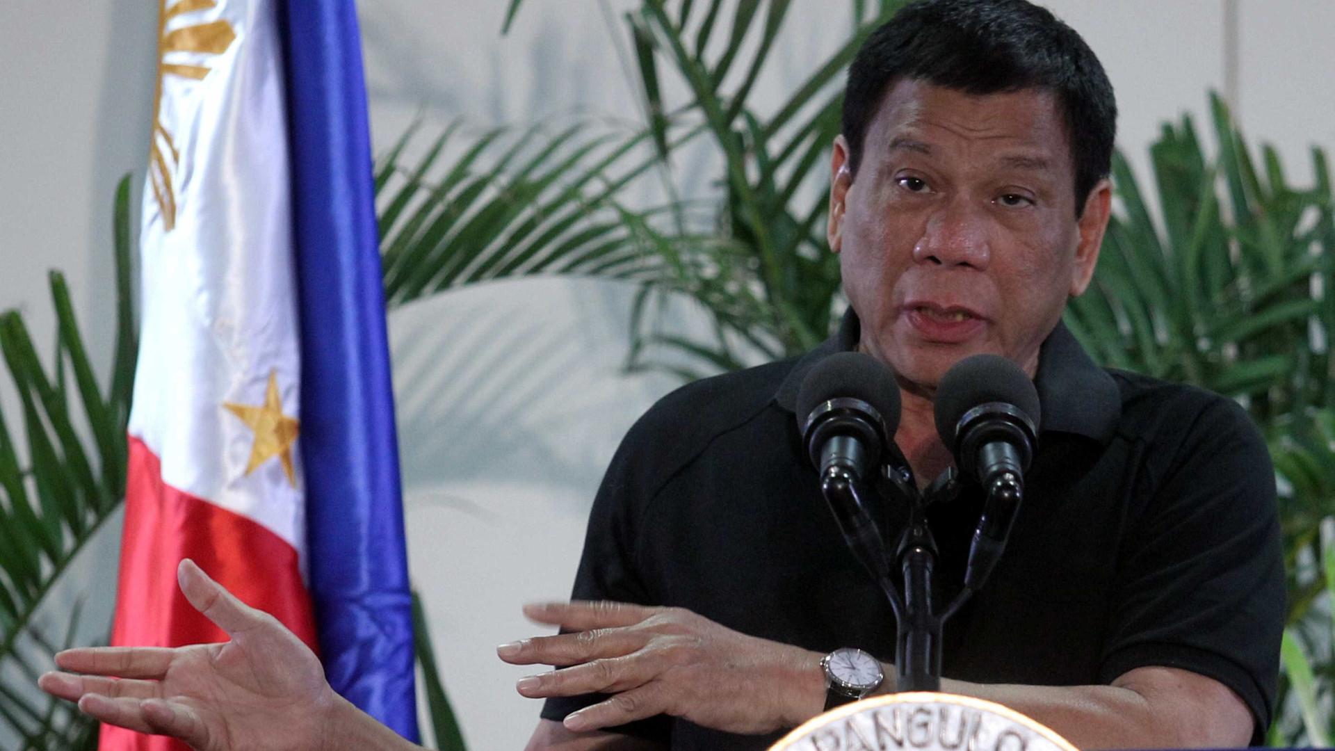 União Europeia atribui a mal-entendido insultos e ameaças de Duterte