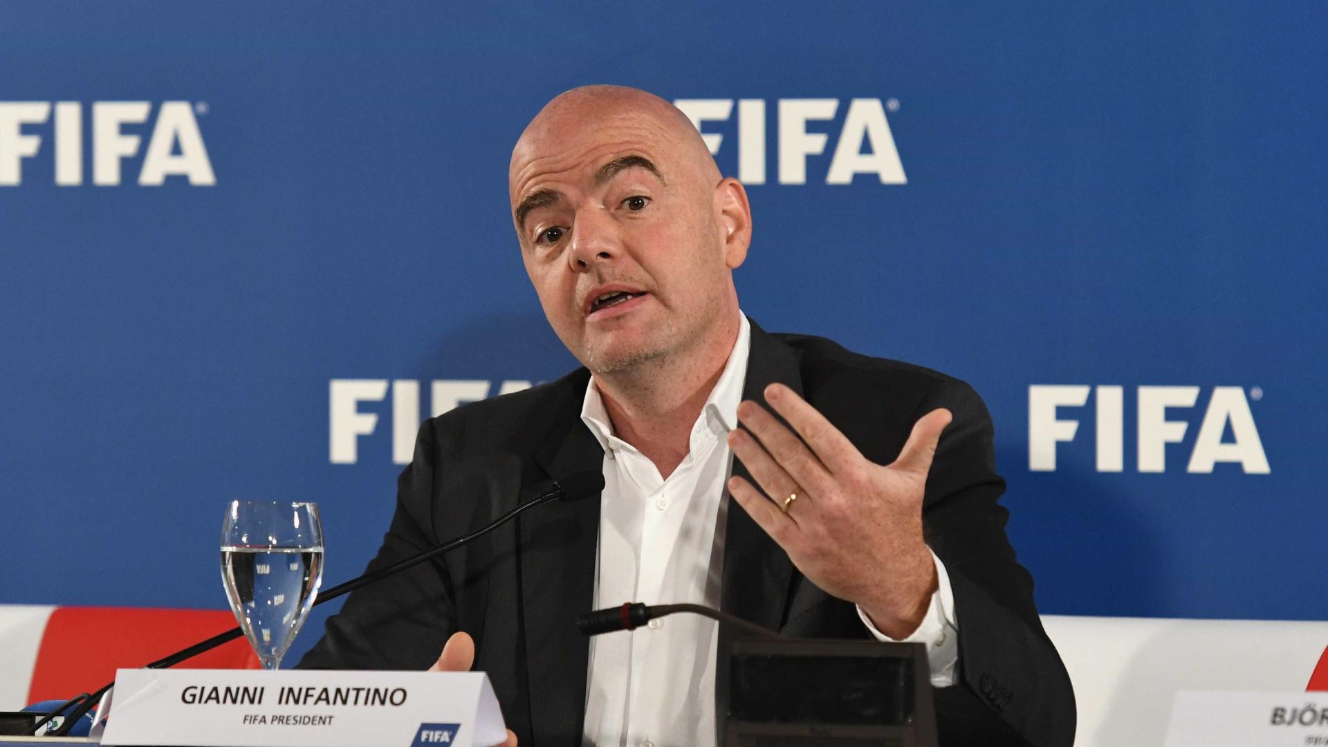 """Pedrógão Grande: Presidente da FIFA """"chocado"""" com o incêndio"""