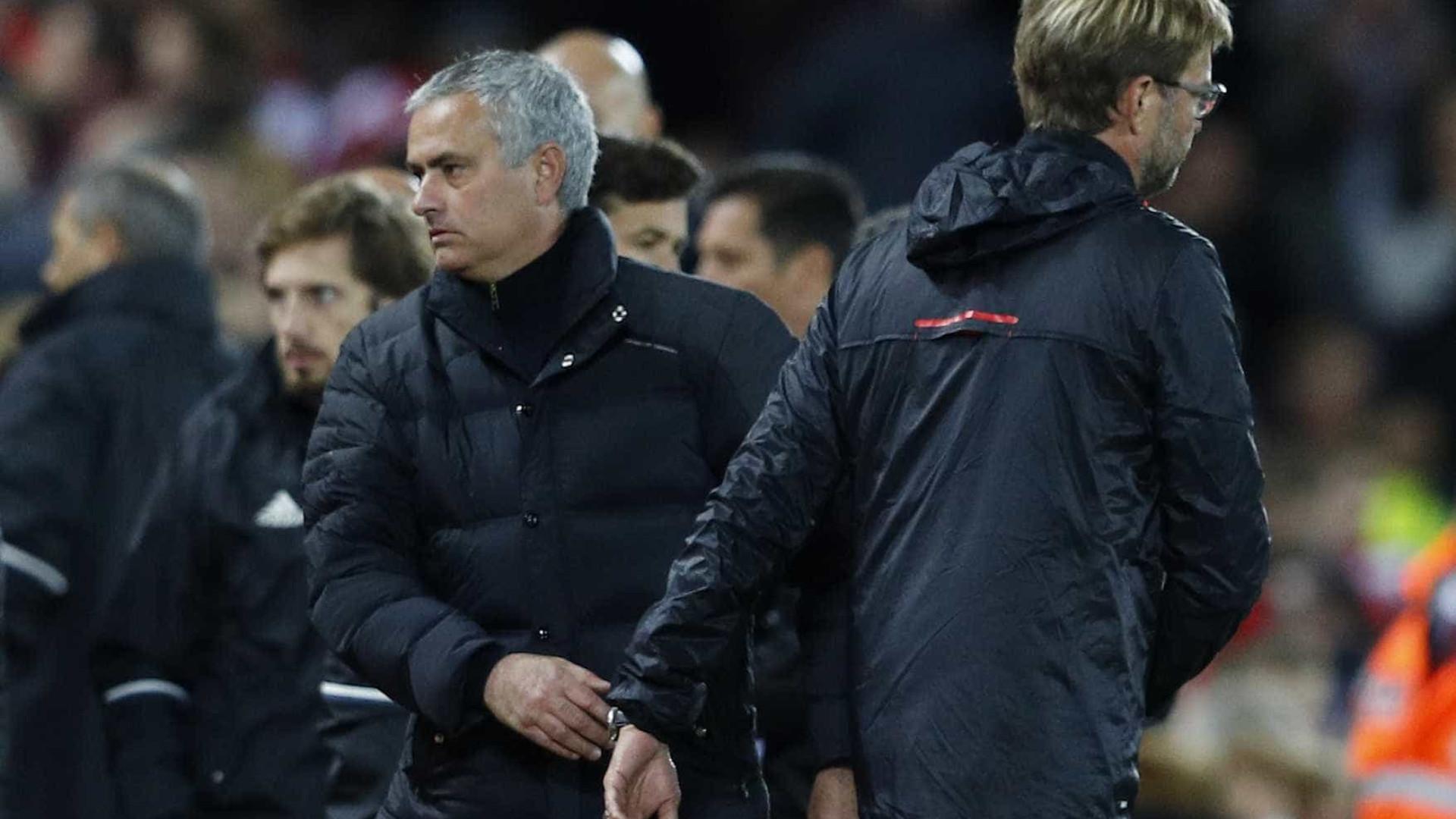 United teve 35% de posse mas Mourinho diz que é problema do Liverpool
