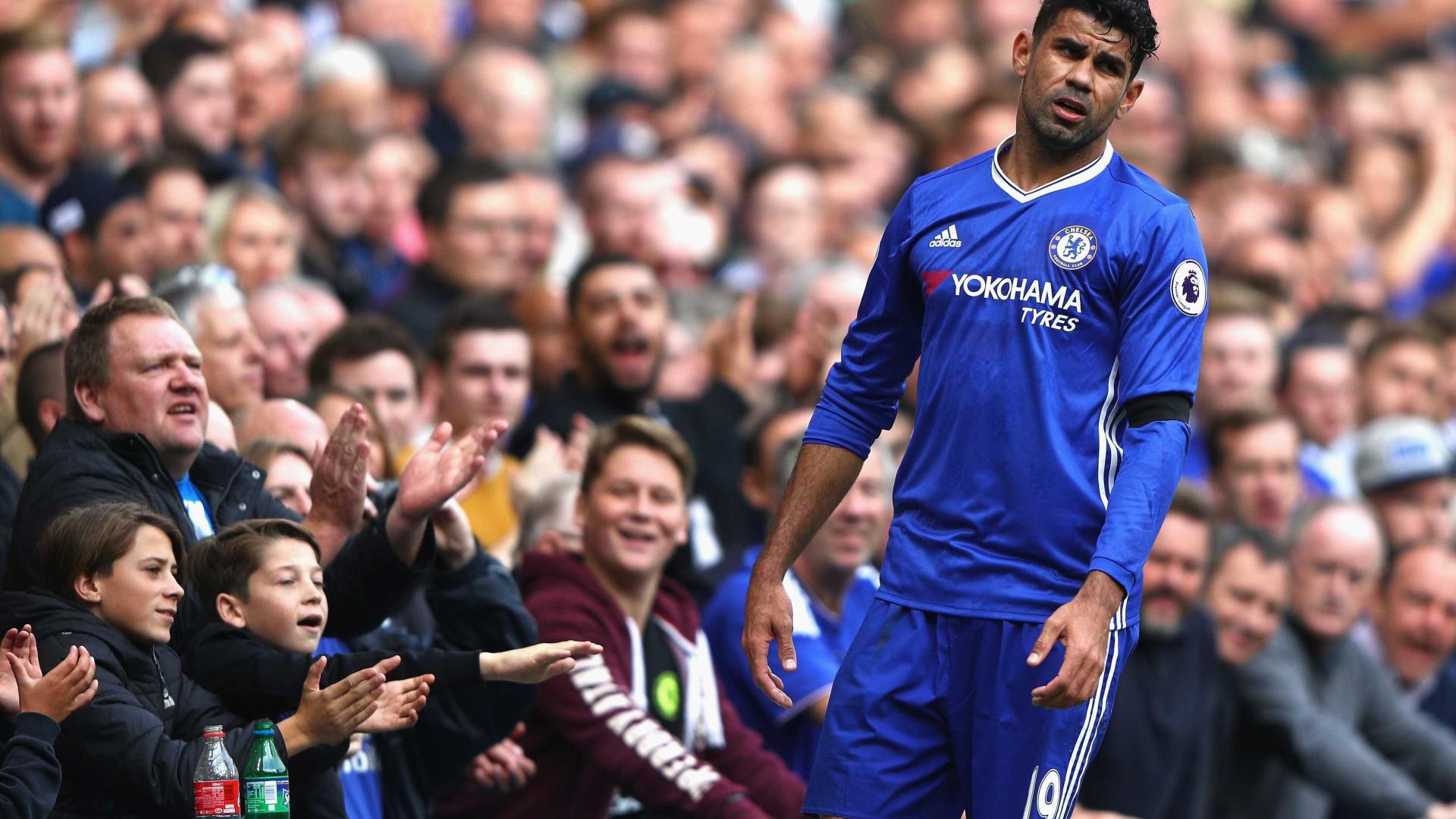 Chelsea ordena que Diego Costa não estacione na área do time
