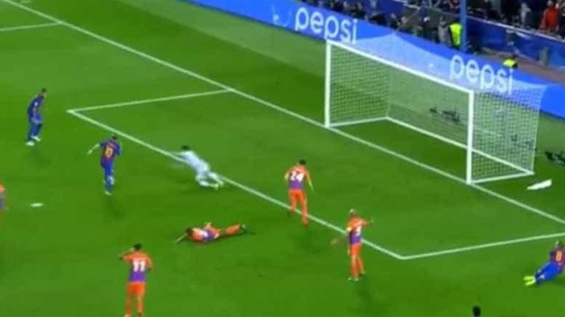Foi assim que Messi inaugurou o marcador do Barcelona-City